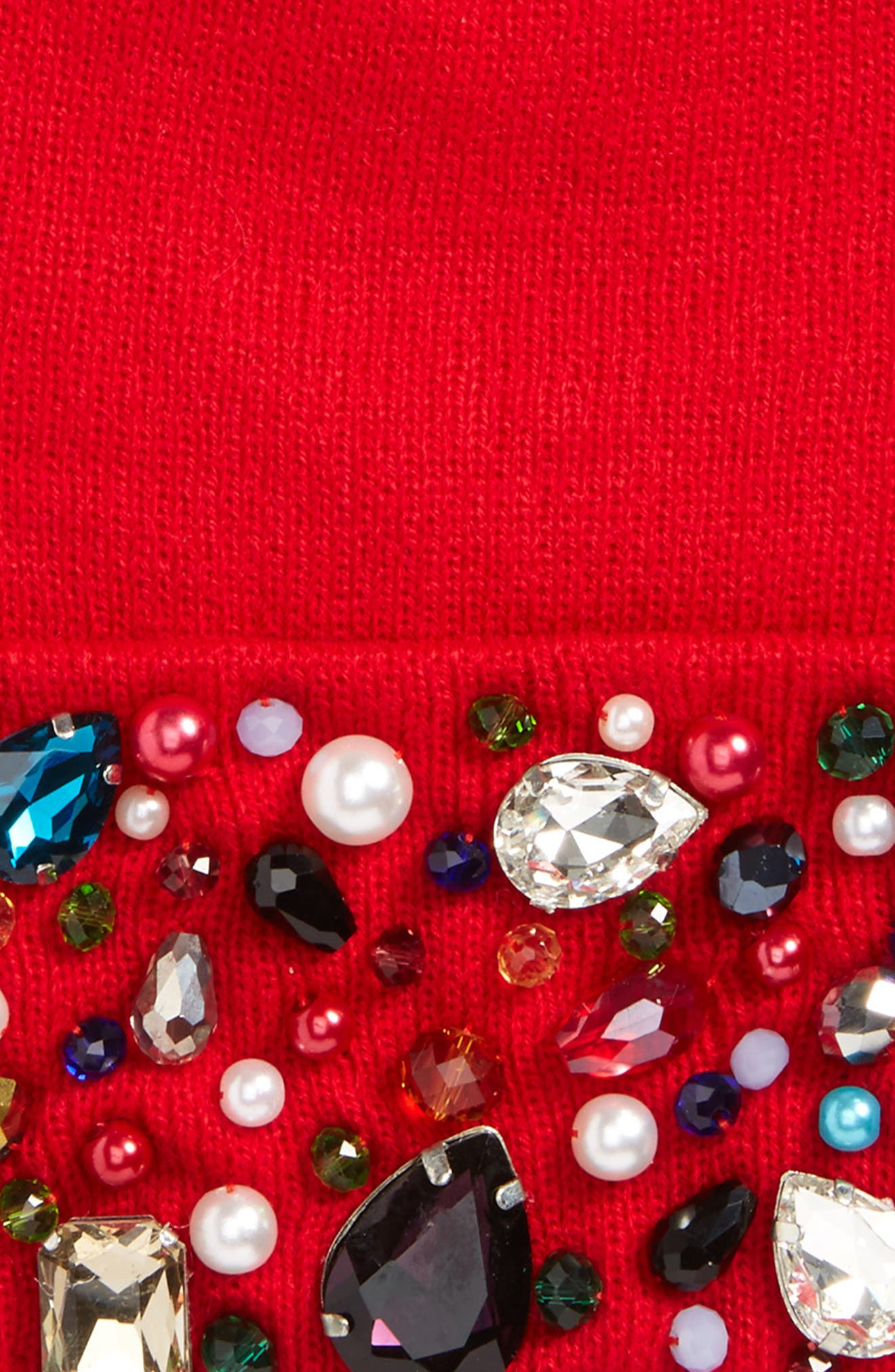 Natasha Crystal Beanie,                             Alternate thumbnail 9, color,