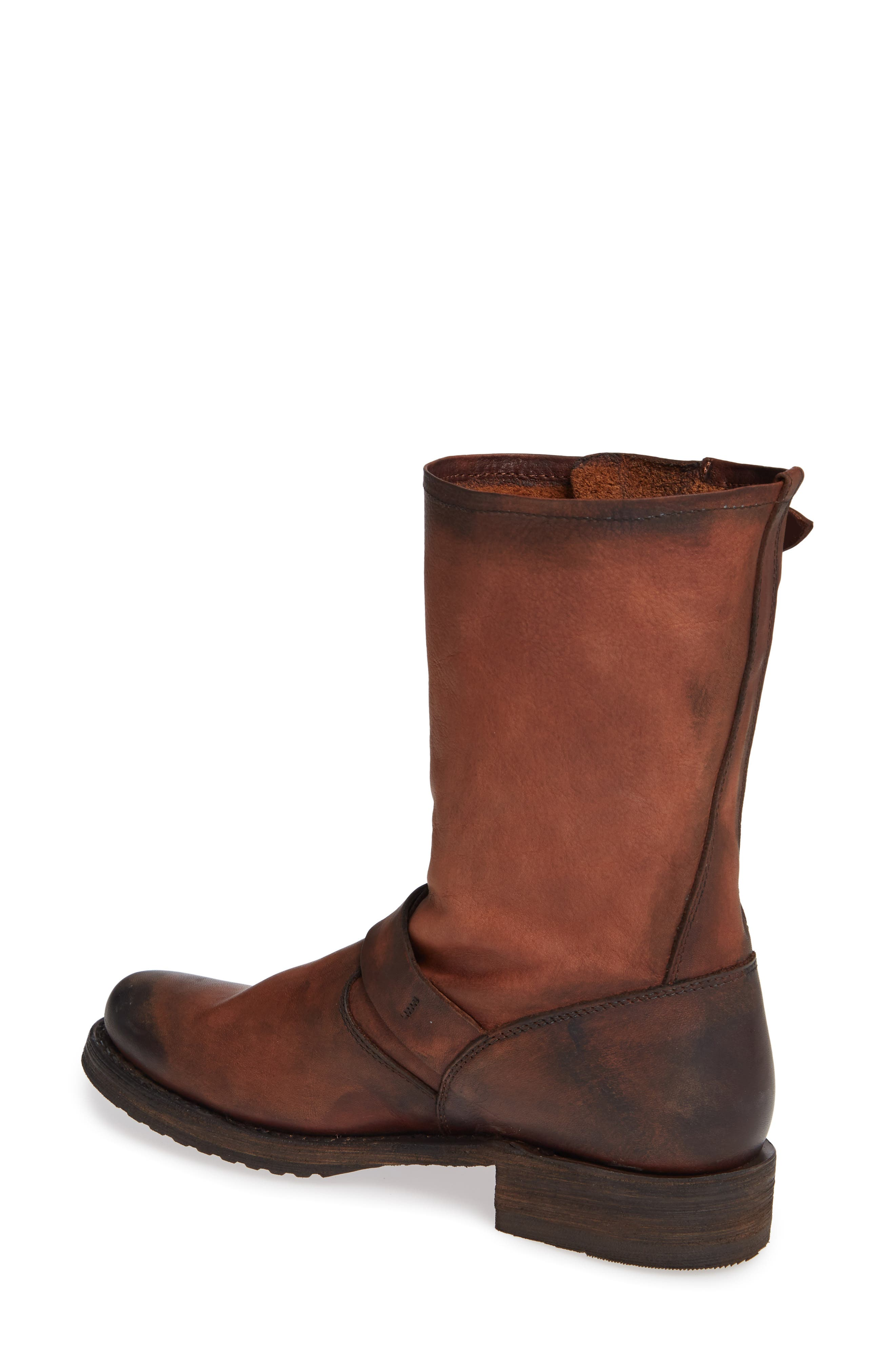 'Veronica' Short Boot,                             Alternate thumbnail 2, color,                             REDWOOD LEATHER