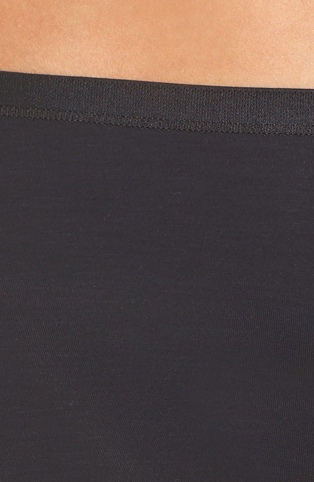 Soft Touch Stretch Modal Boyshorts,                             Alternate thumbnail 4, color,                             BLACK