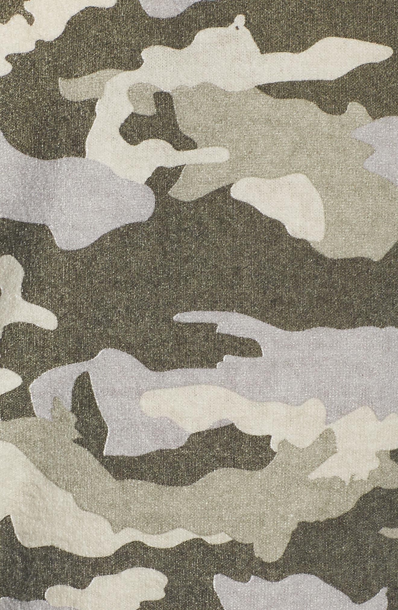 Camo Lounge Sweatshirt,                             Alternate thumbnail 5, color,                             342
