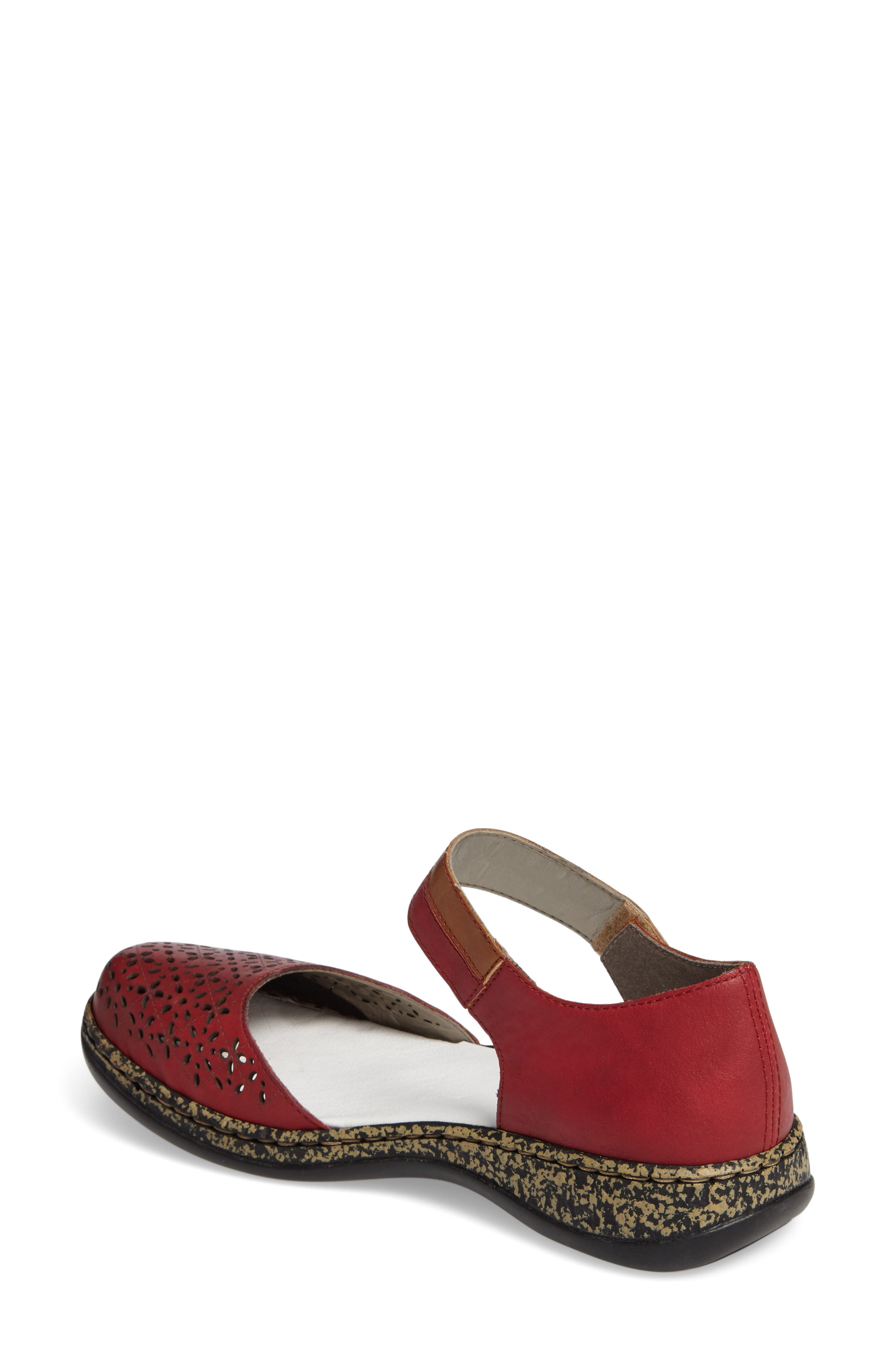 Daisy 10 Mary Jane Flat,                             Alternate thumbnail 2, color,                             ROSSO LEATHER