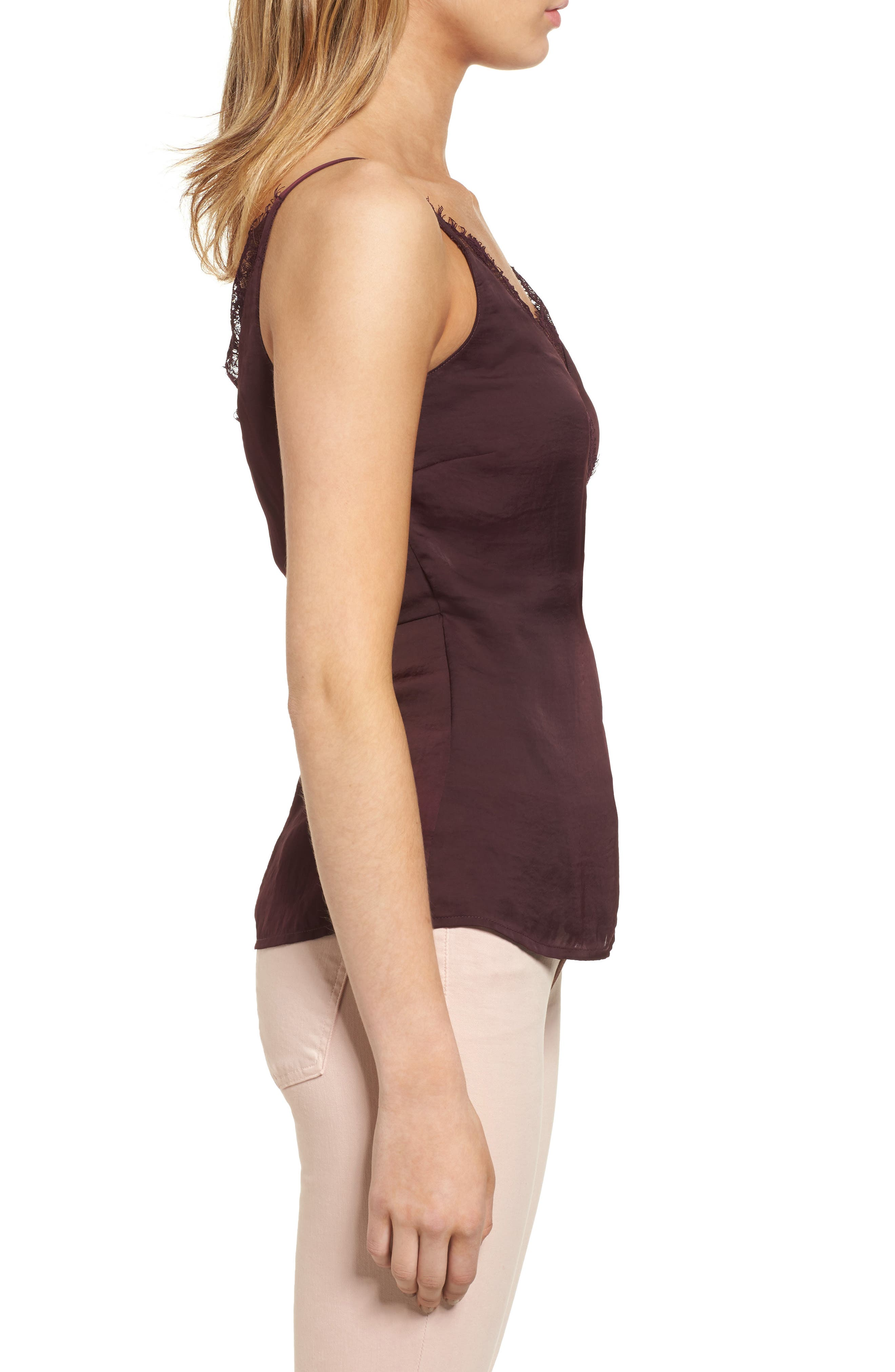 Satin Wrap Camisole,                             Alternate thumbnail 6, color,