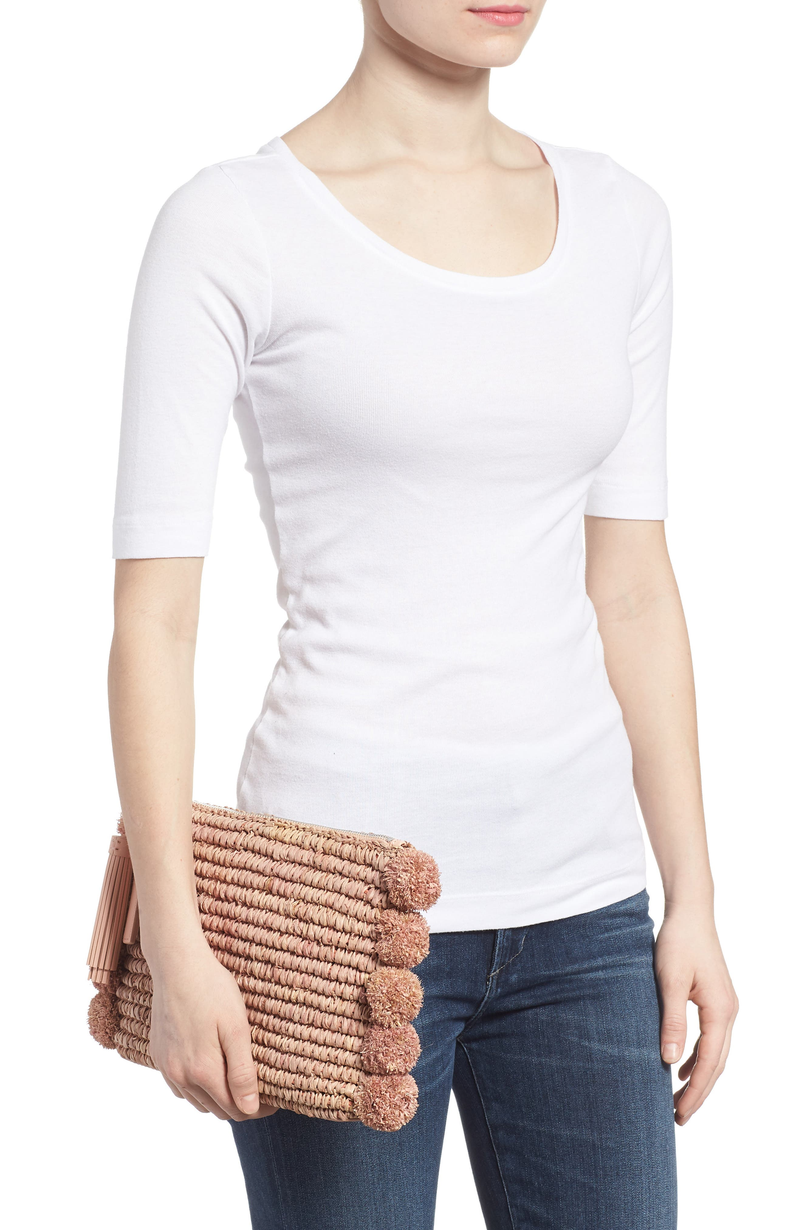 Straw Tassel Pouch,                             Alternate thumbnail 7, color,