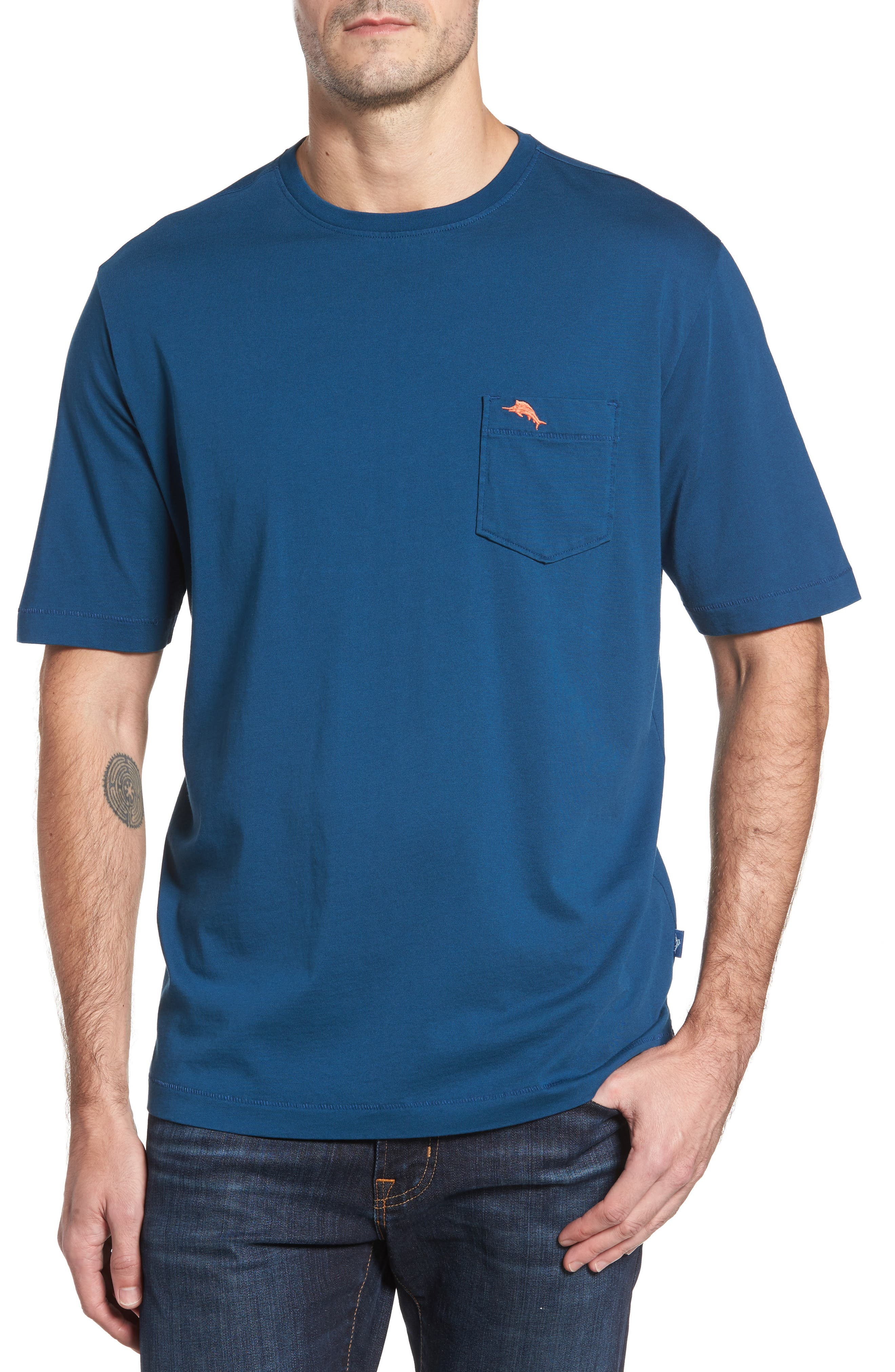 New Bali Sky Pima Cotton Pocket T-Shirt,                             Main thumbnail 2, color,