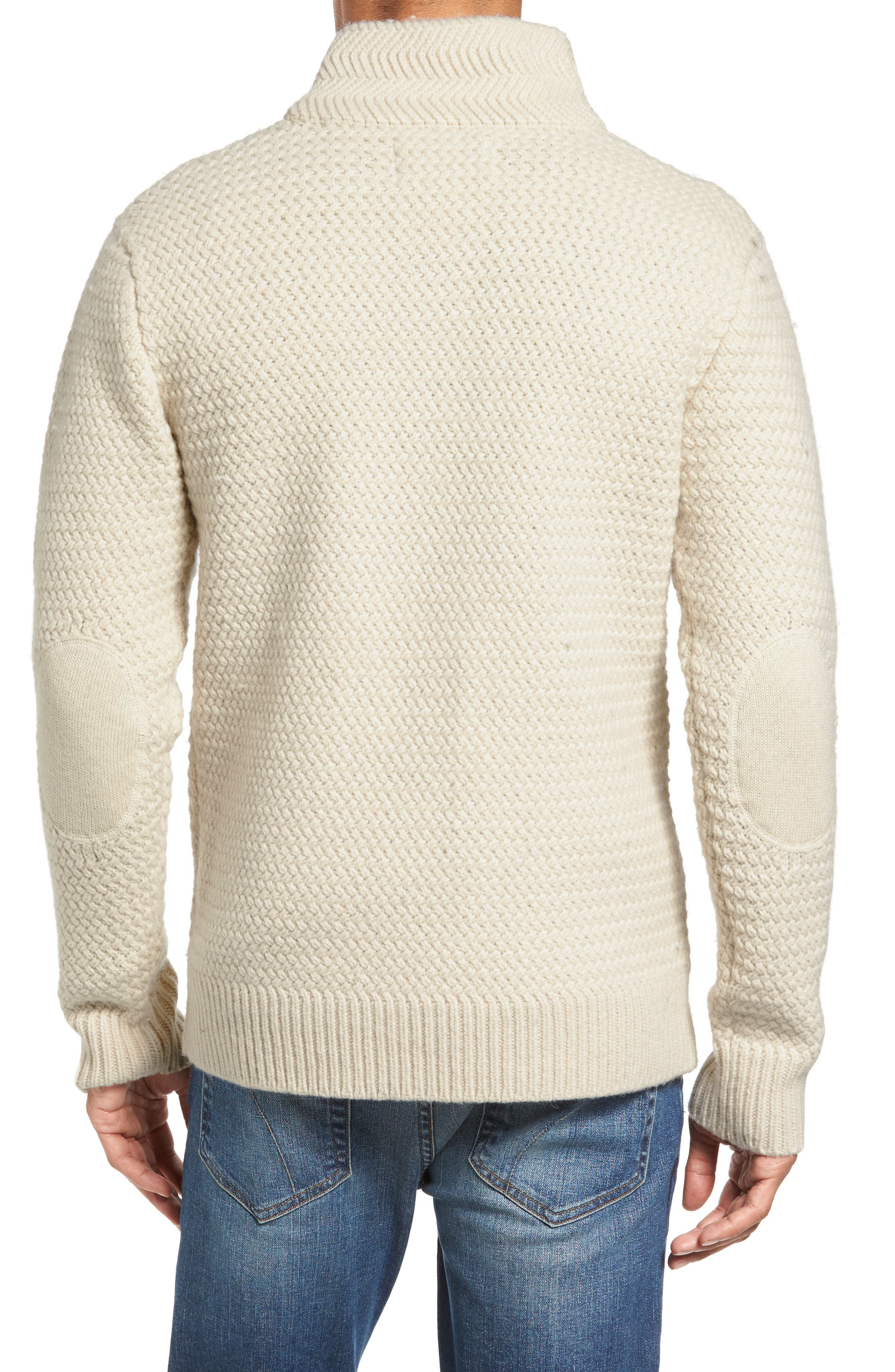 Military Henley Sweater,                             Alternate thumbnail 2, color,                             OFF WHITE