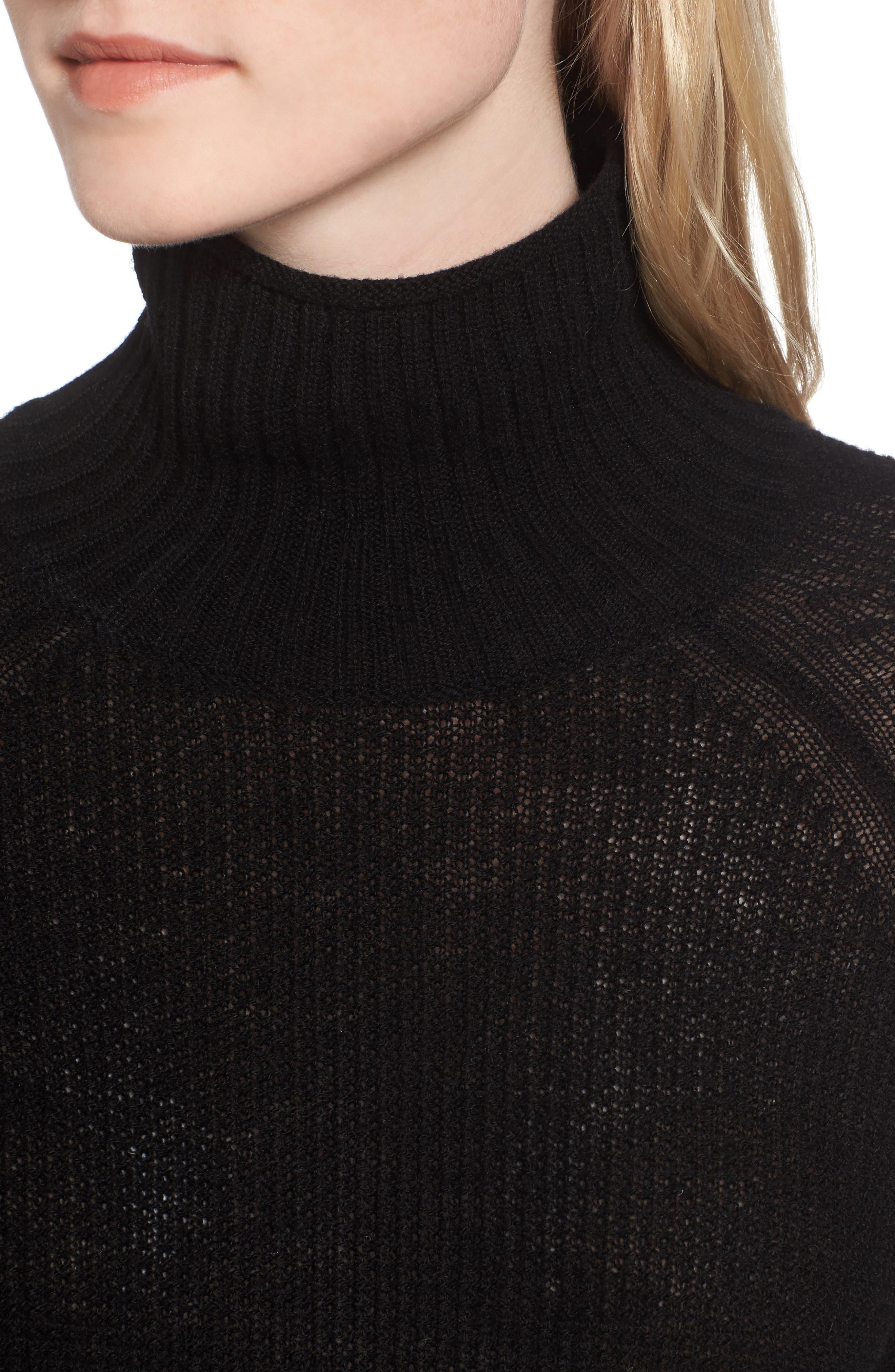 Jenni Turtleneck Sweater,                             Alternate thumbnail 4, color,                             001