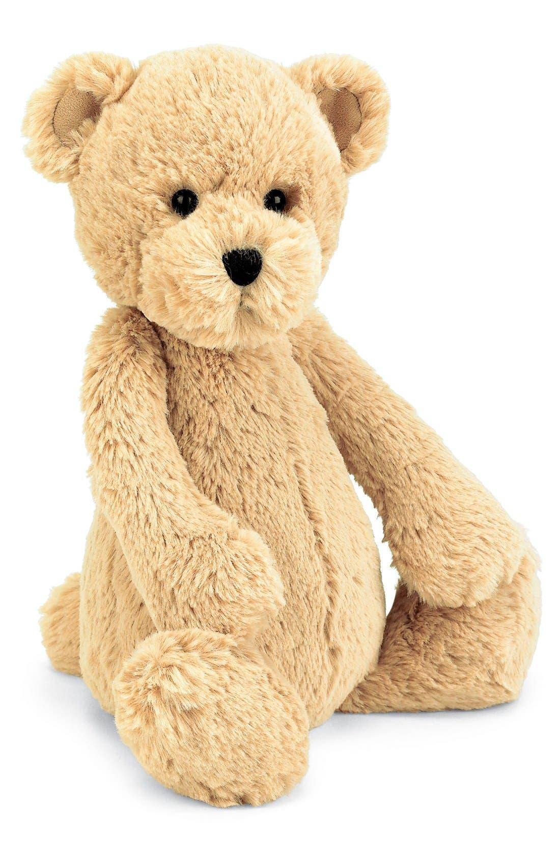 'Bashful Honey Bear' Stuffed Animal,                             Main thumbnail 1, color,                             TAN