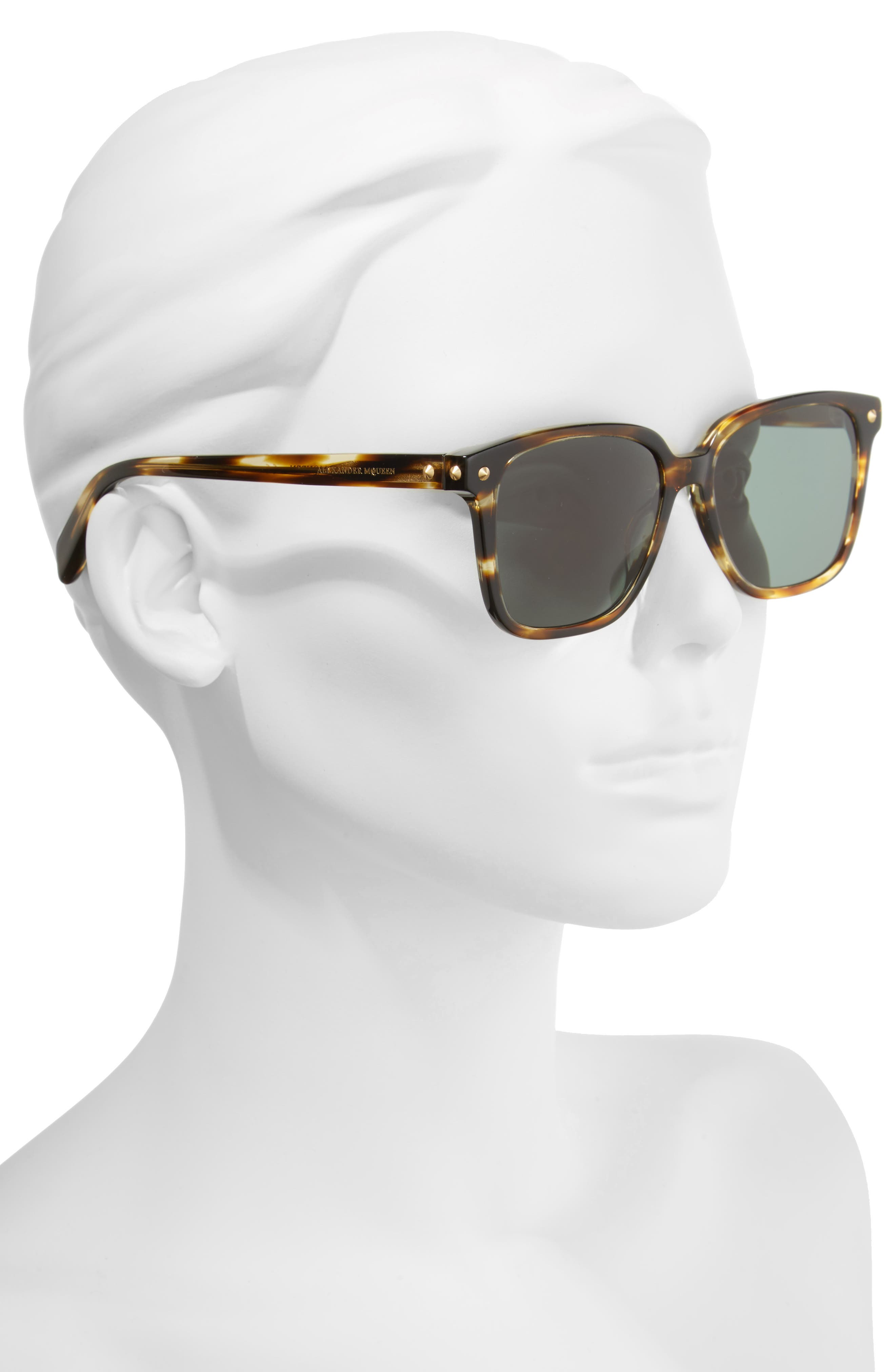 53mm Square Sunglasses,                             Alternate thumbnail 4, color,
