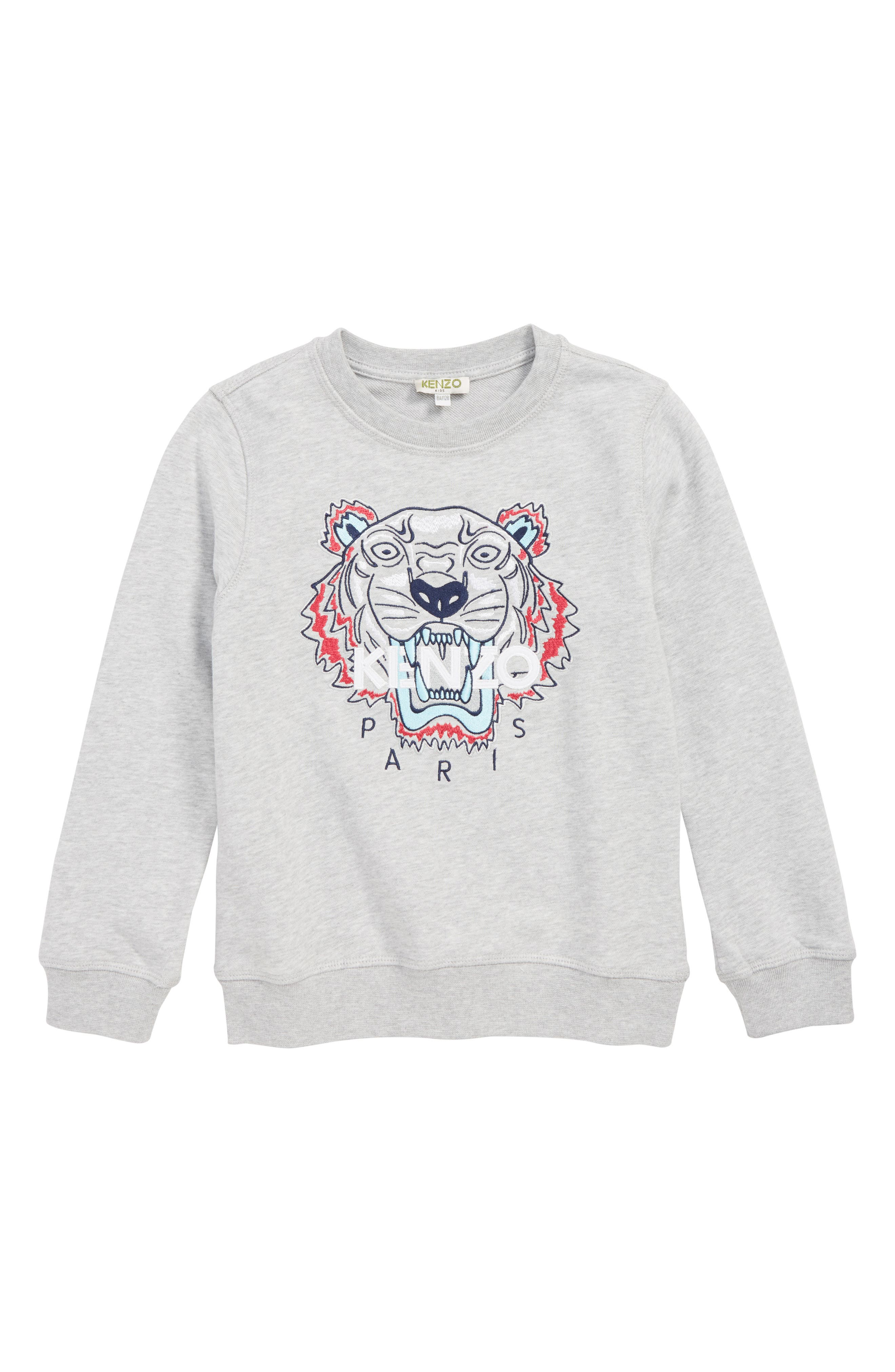Embroidered Tiger Logo Sweatshirt,                             Main thumbnail 1, color,                             088
