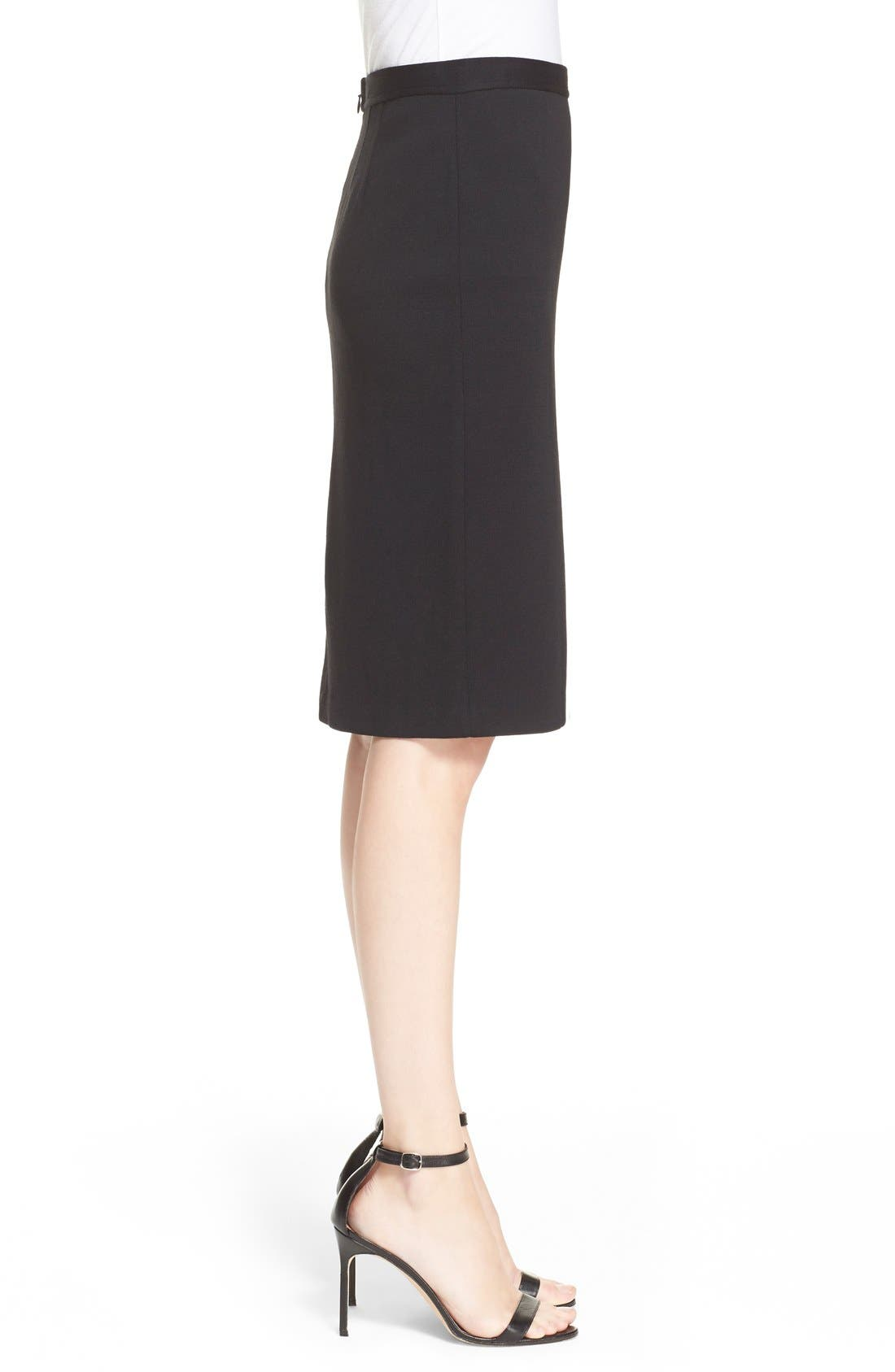Milano Knit Pencil Skirt,                             Alternate thumbnail 2, color,                             CAVIAR