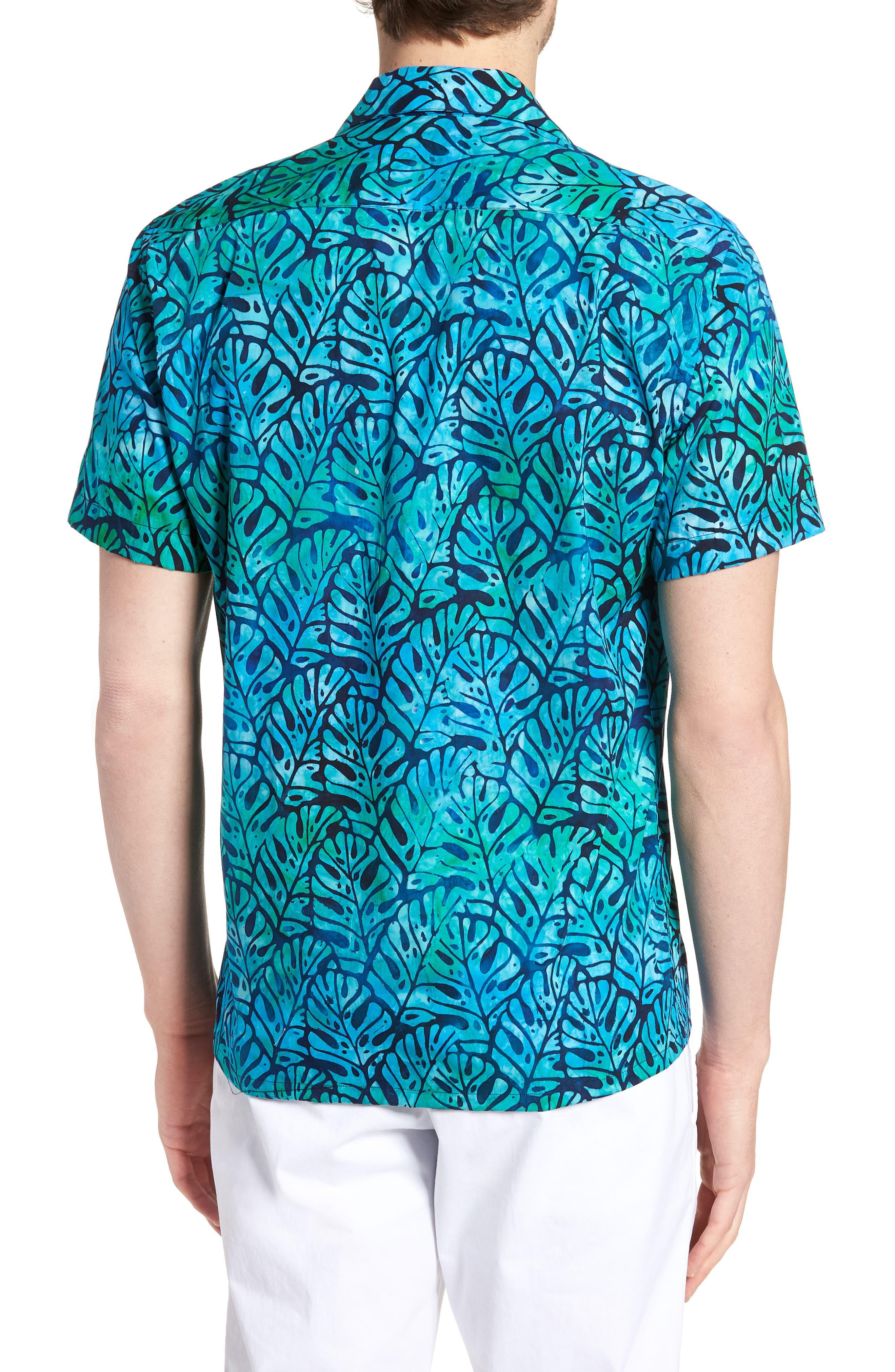 Oahu Trim Fit Sport Shirt,                             Alternate thumbnail 2, color,