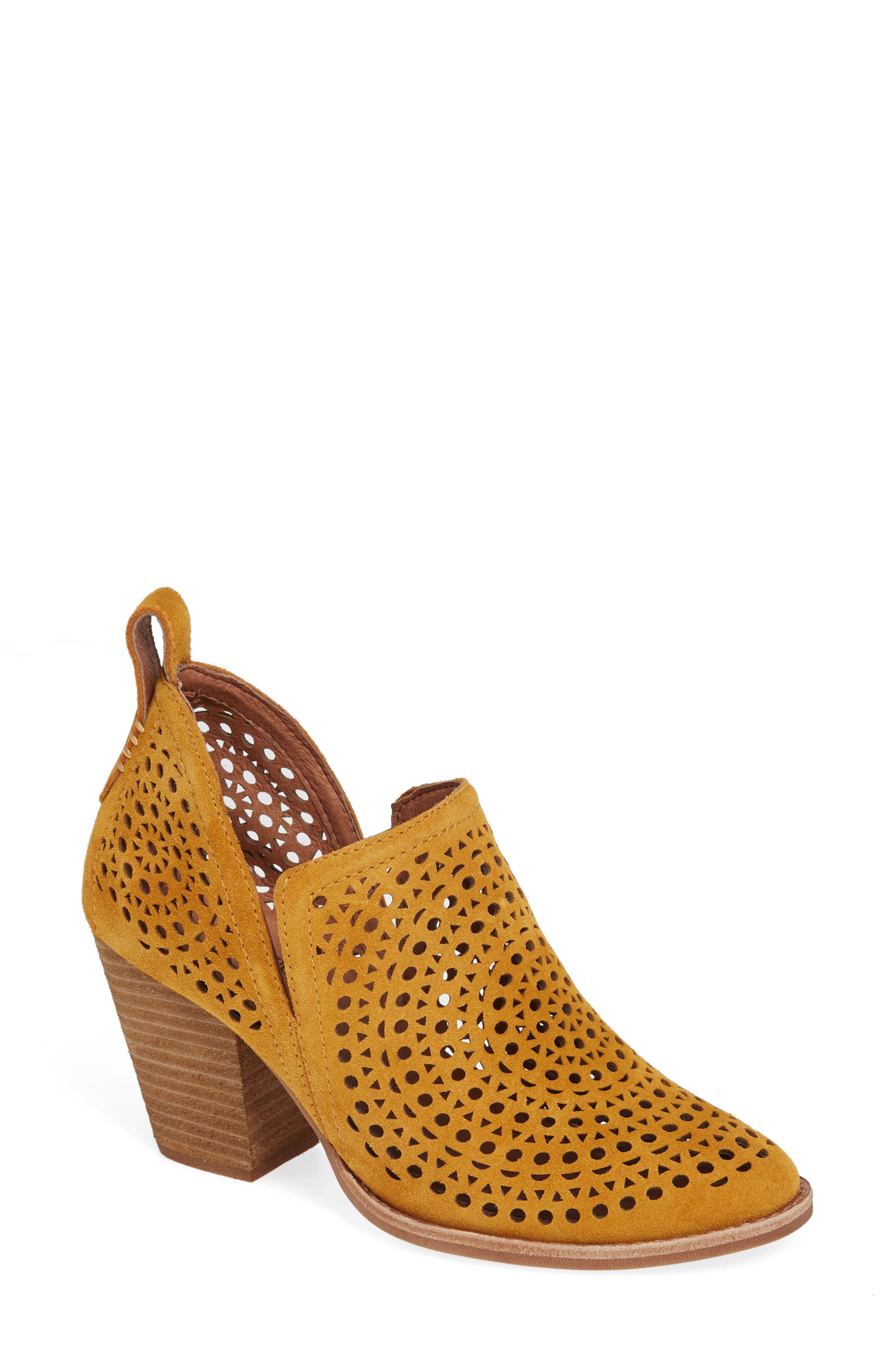 Rosalee Bootie,                             Main thumbnail 1, color,                             MUSTARD SUEDE