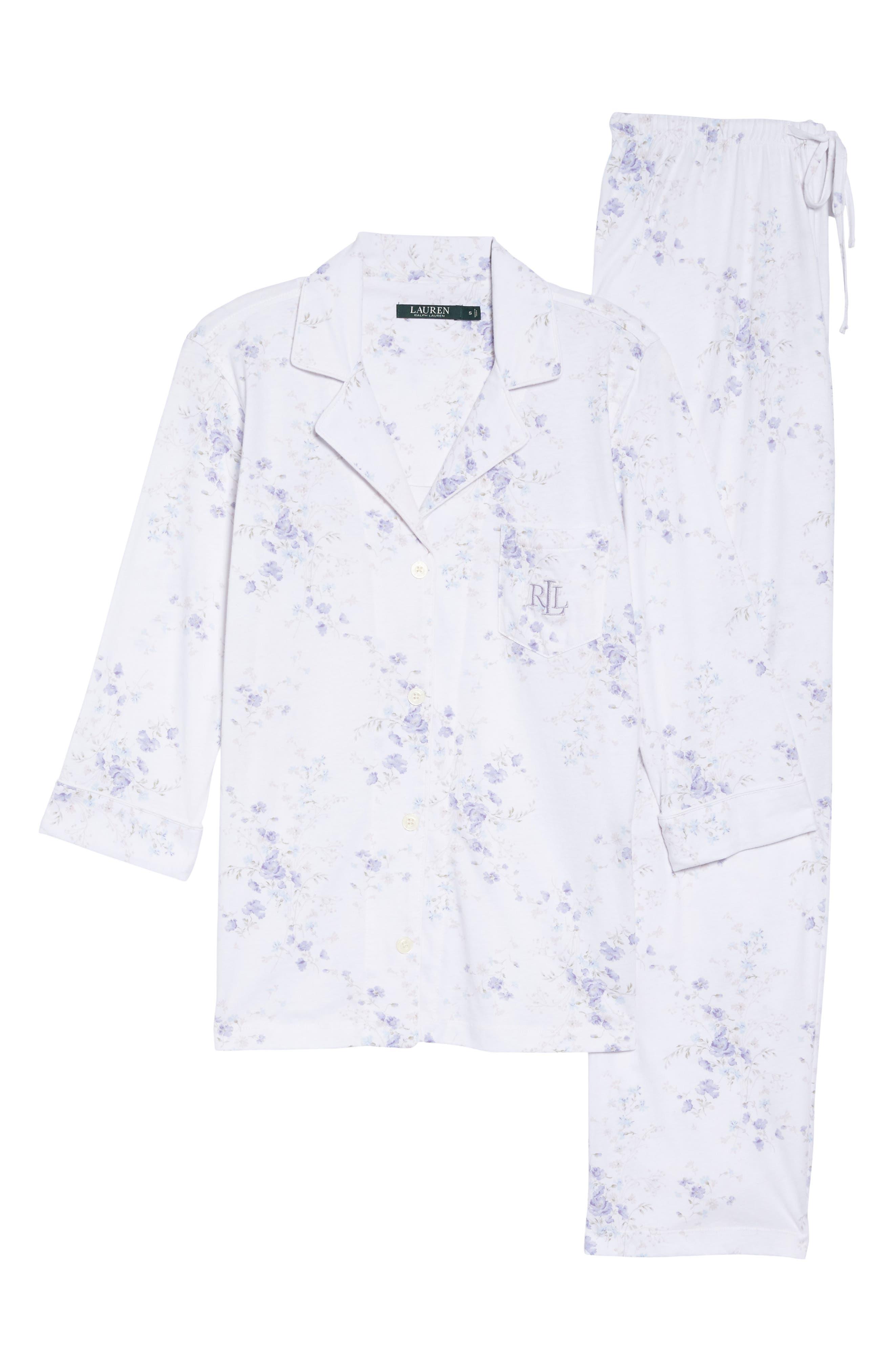 Notch Collar Pajamas,                             Alternate thumbnail 14, color,