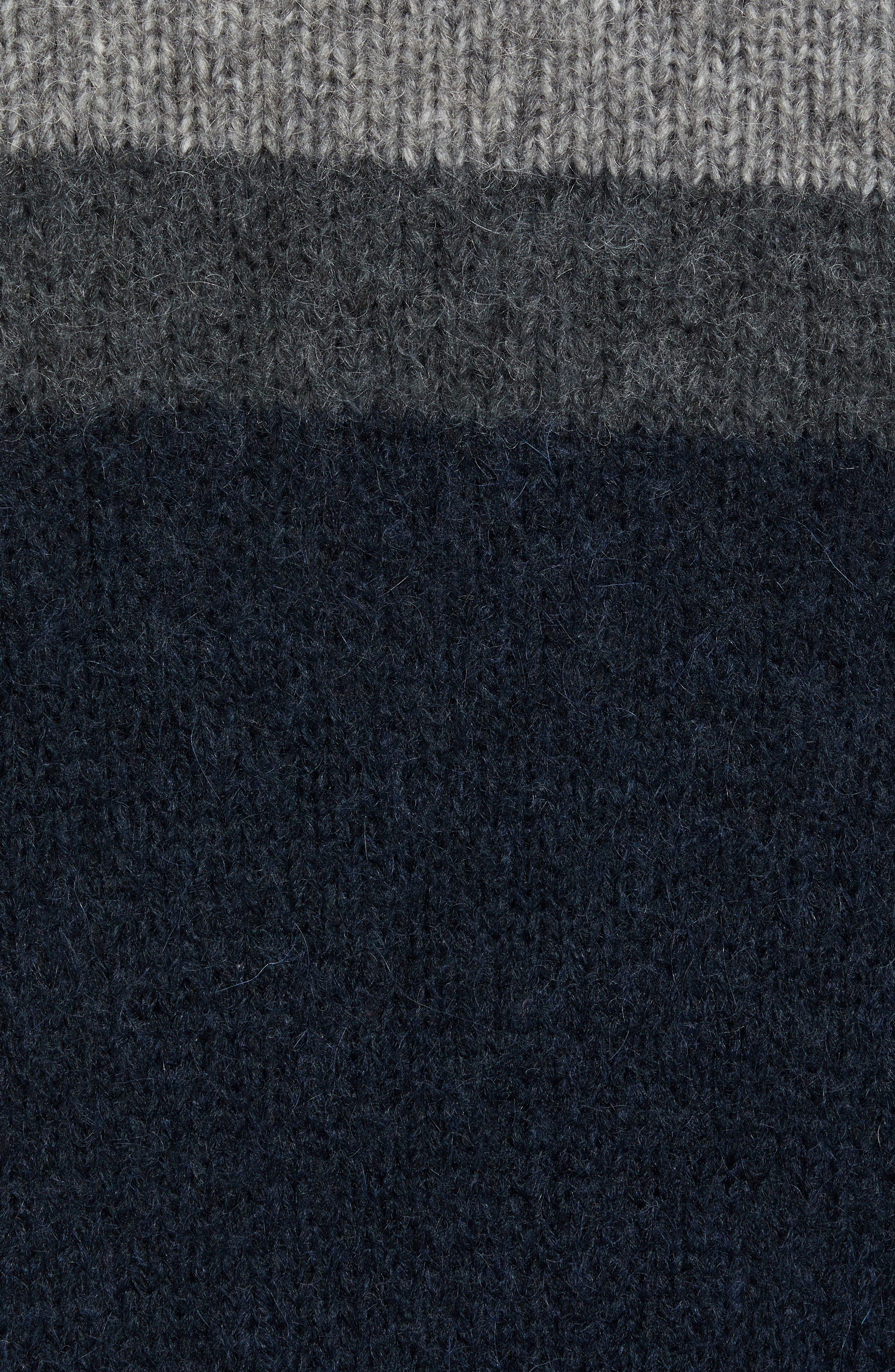 Stripe Sweater,                             Alternate thumbnail 5, color,                             UTILITY BLUE CHARCOAL MELANGE