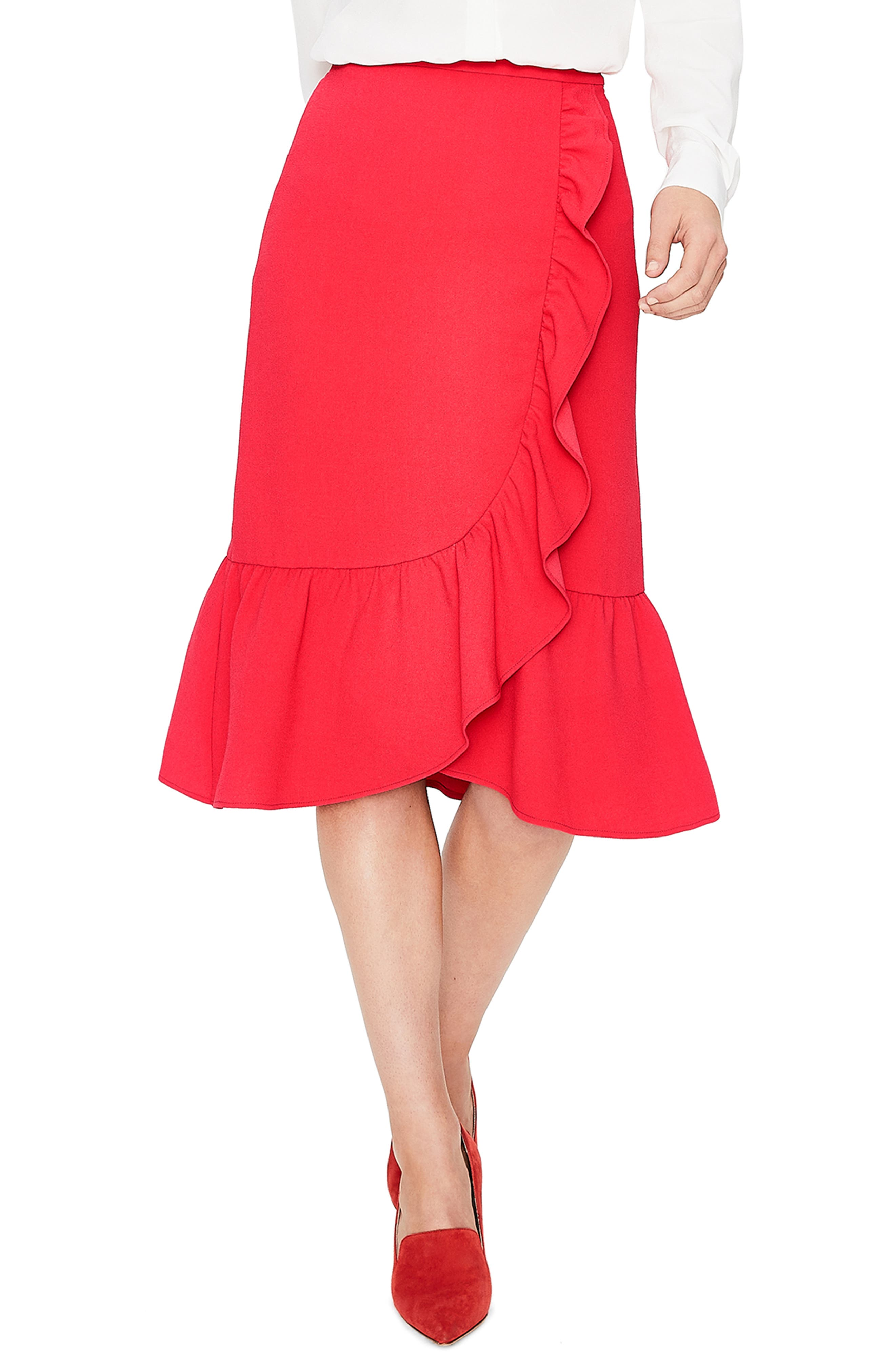 Boden Ella Frill Wrap Skirt