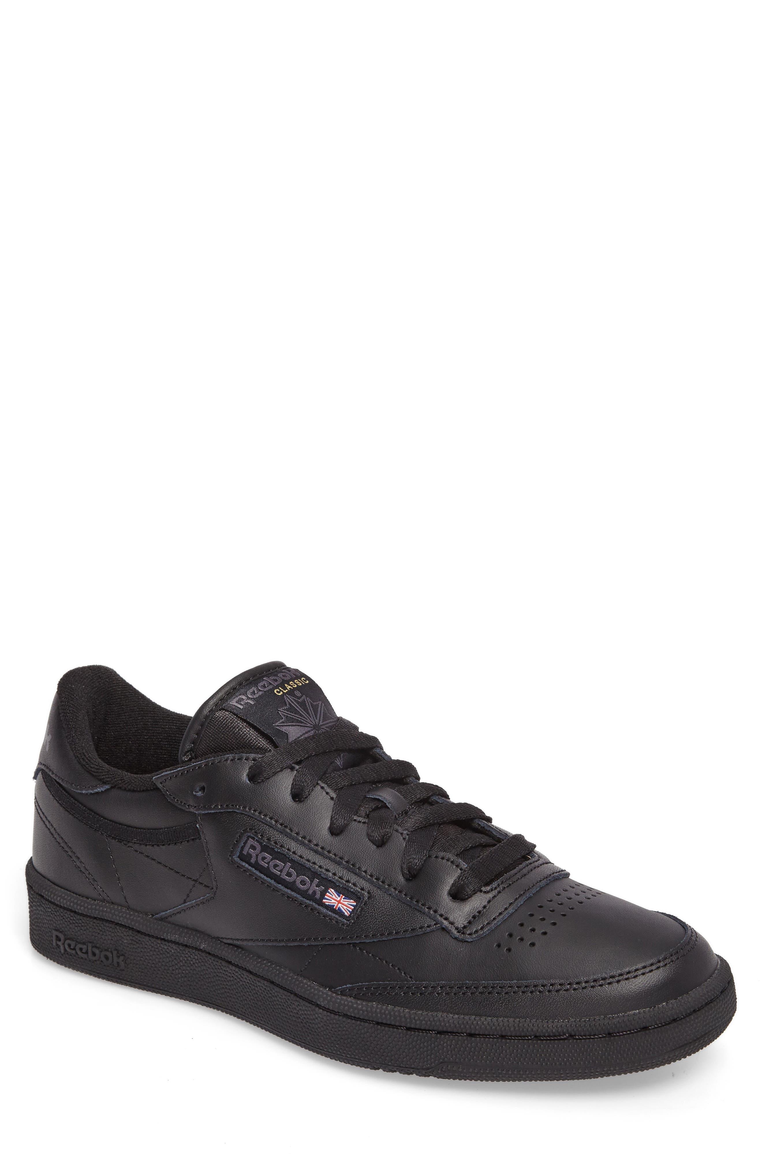 Club C 85 Sneaker,                         Main,                         color, BLACK/ CHARCOAL