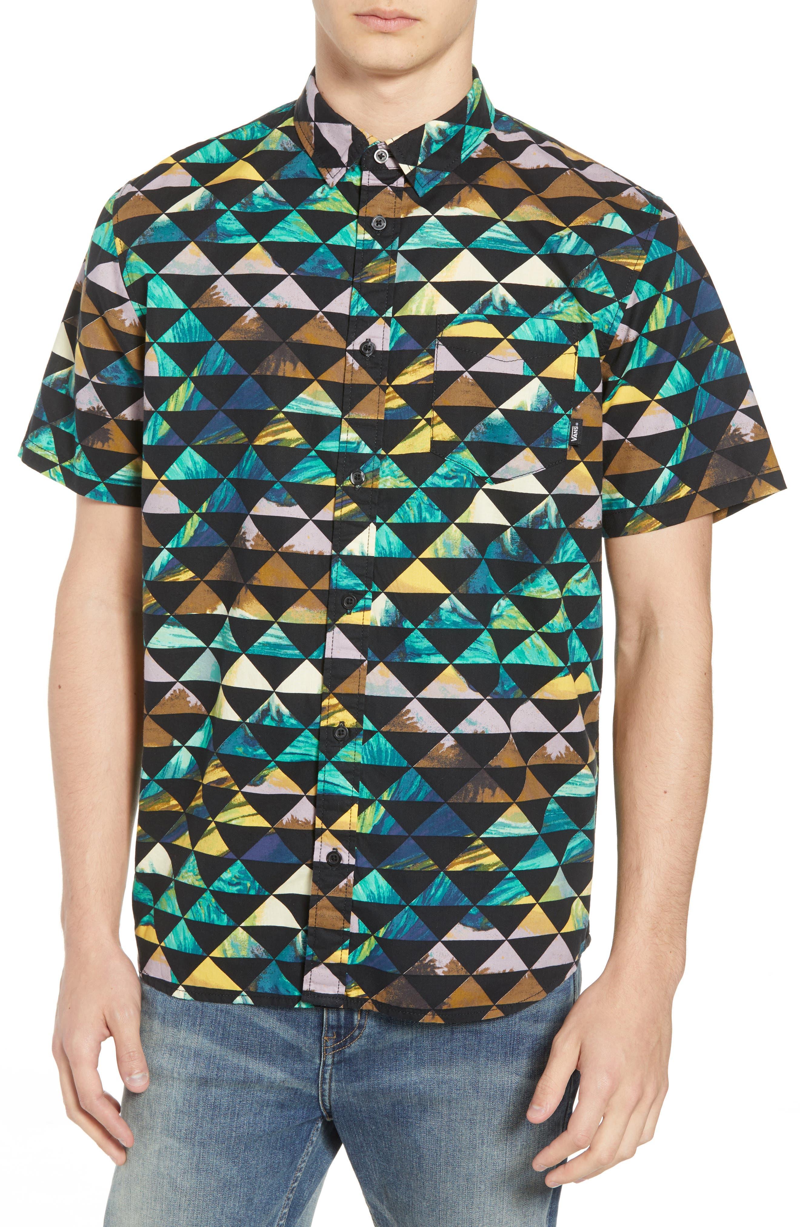 2018 VTCS Aloha Print Woven Shirt,                         Main,                         color, 001