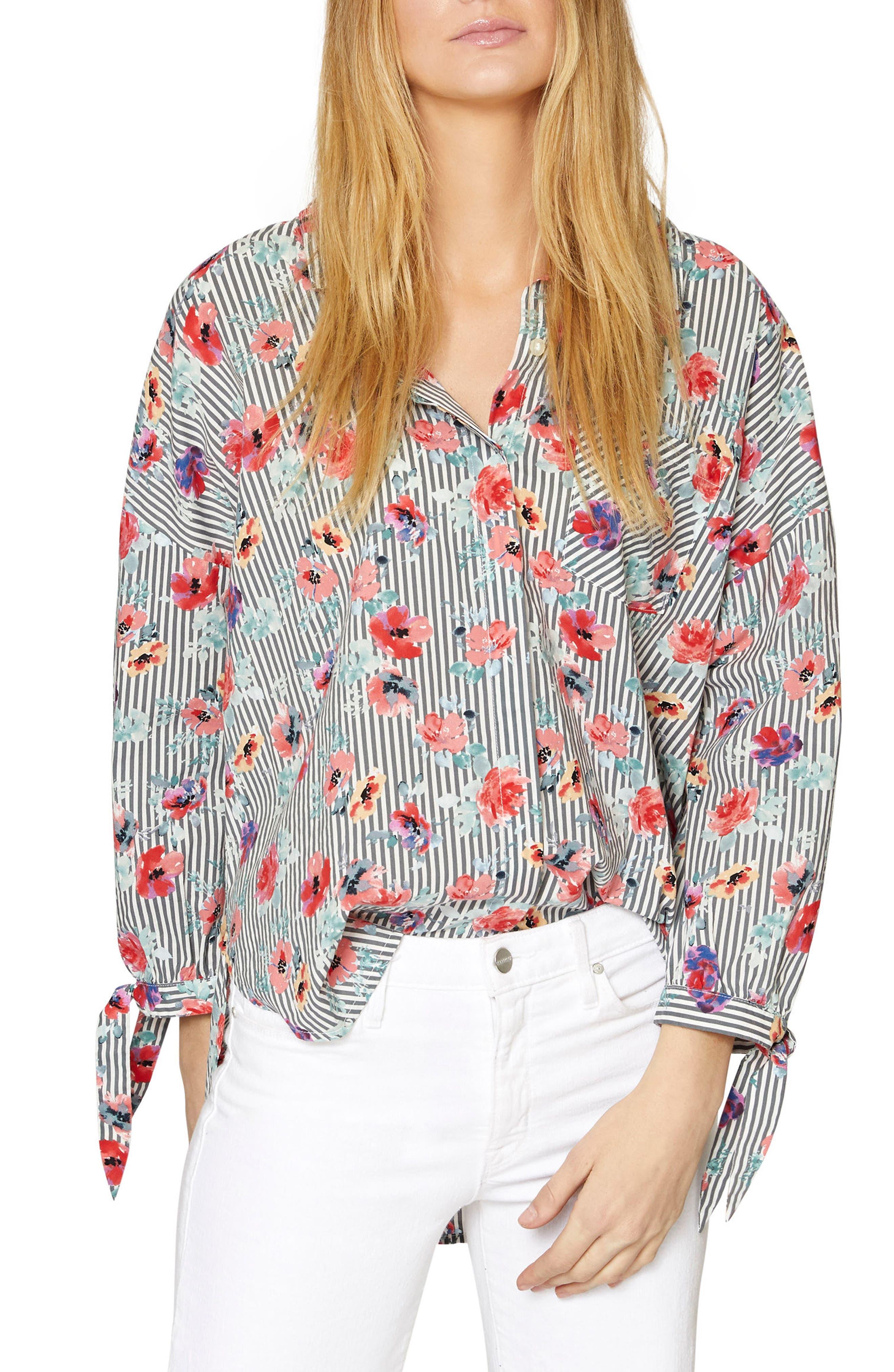 Birch Tie Cuff Shirt,                             Main thumbnail 1, color,