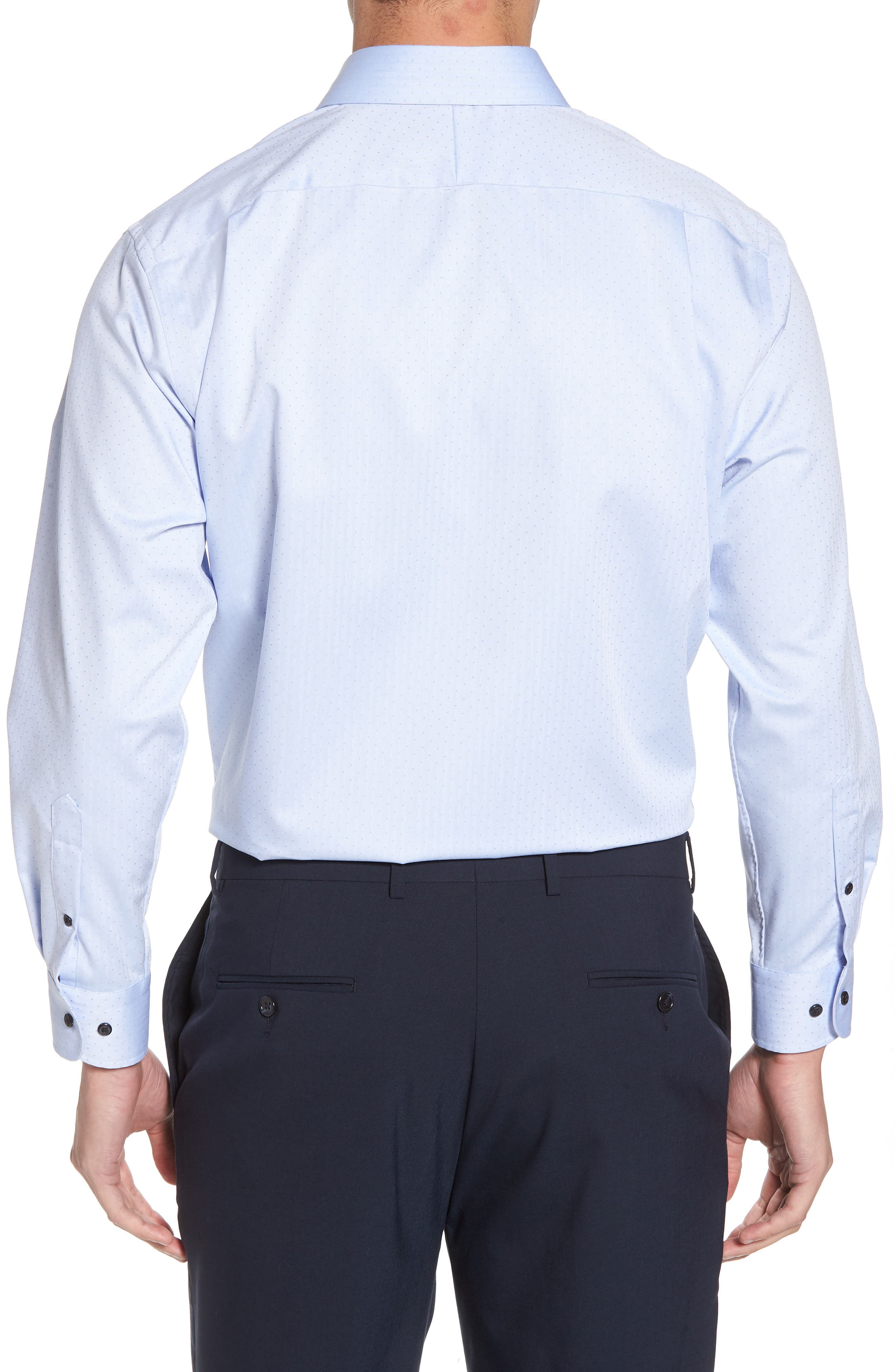 Traditional Fit Non-Iron Dress Shirt,                             Alternate thumbnail 6, color,