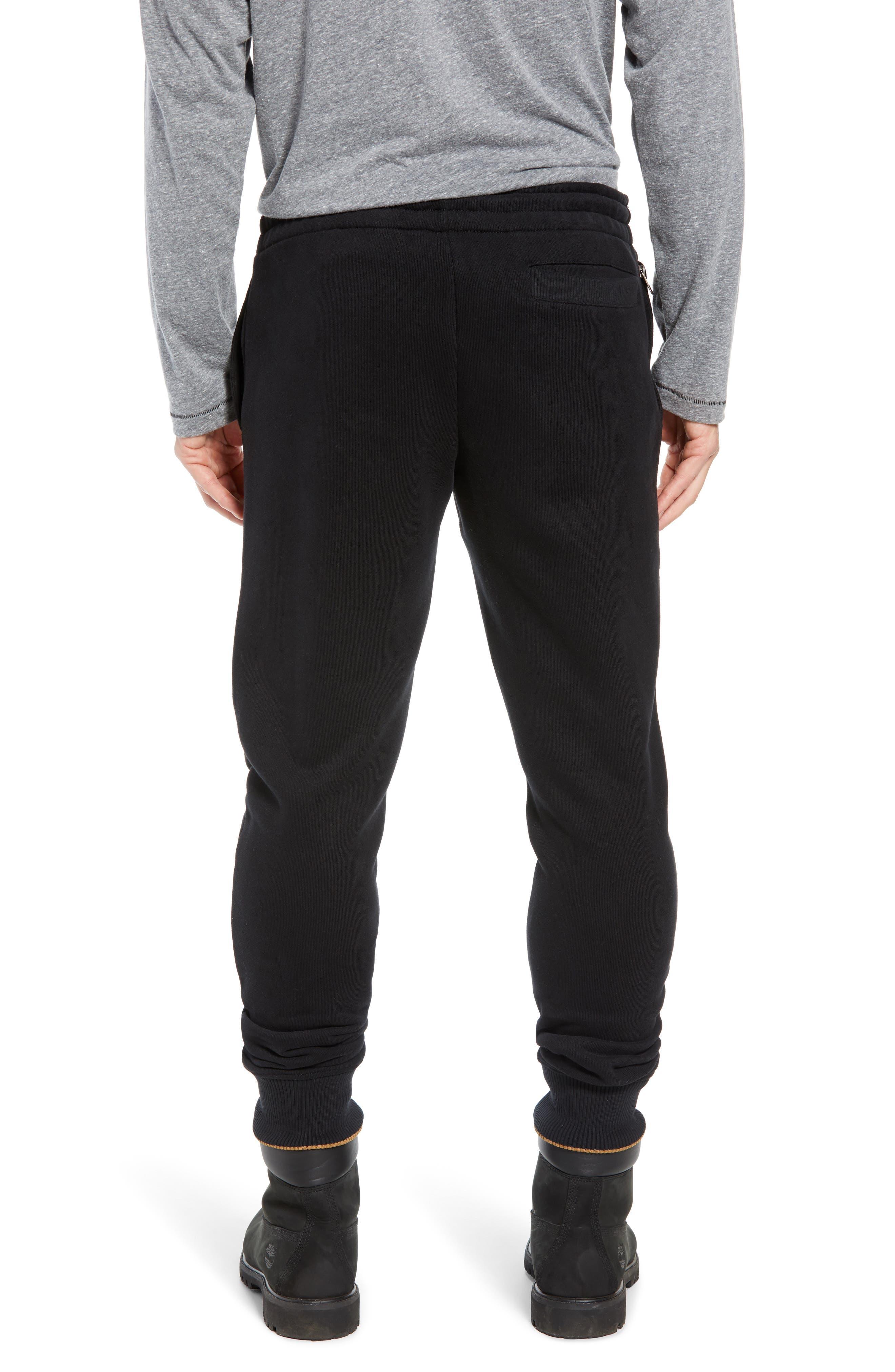 Elevated Jogger Sweatpants,                             Alternate thumbnail 2, color,                             BLACK