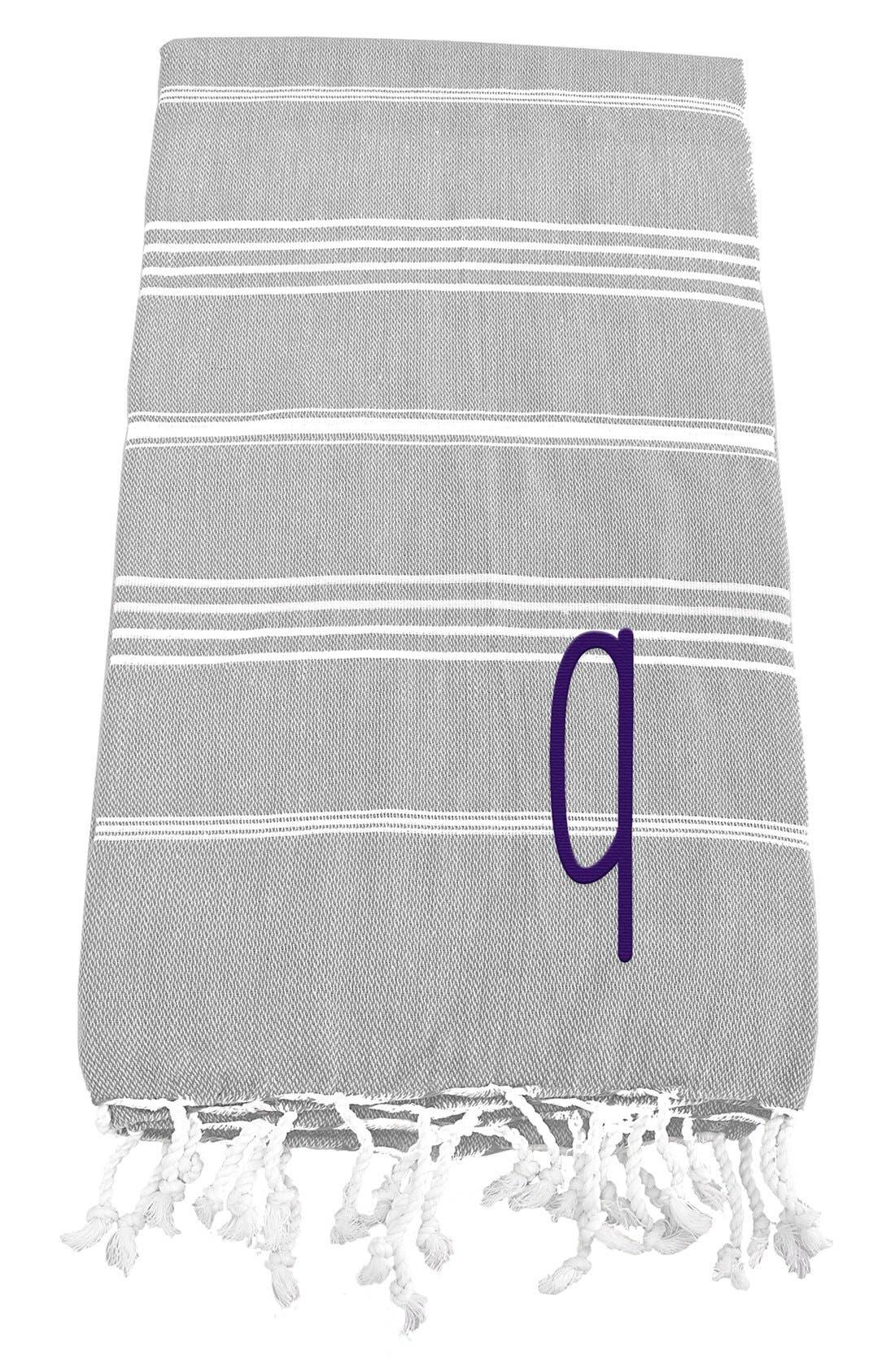 Monogram Turkish Cotton Towel,                             Main thumbnail 19, color,