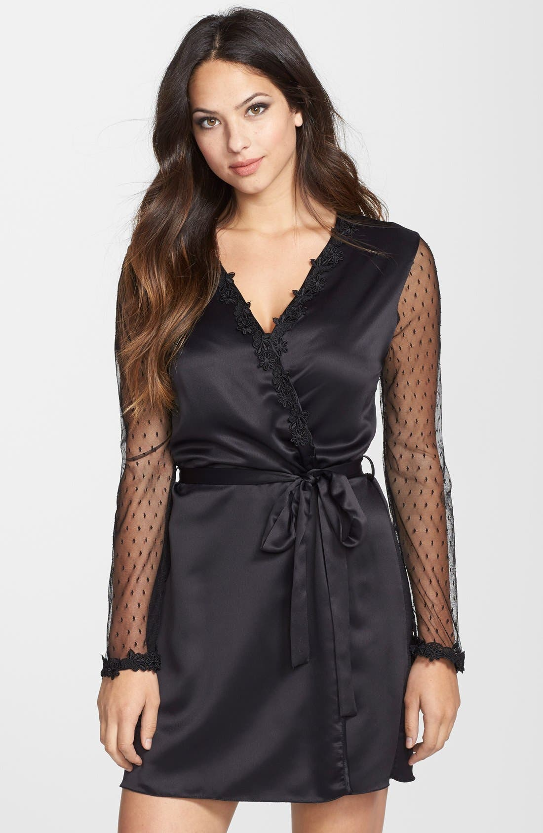 Showstopper Robe,                         Main,                         color, BLACK