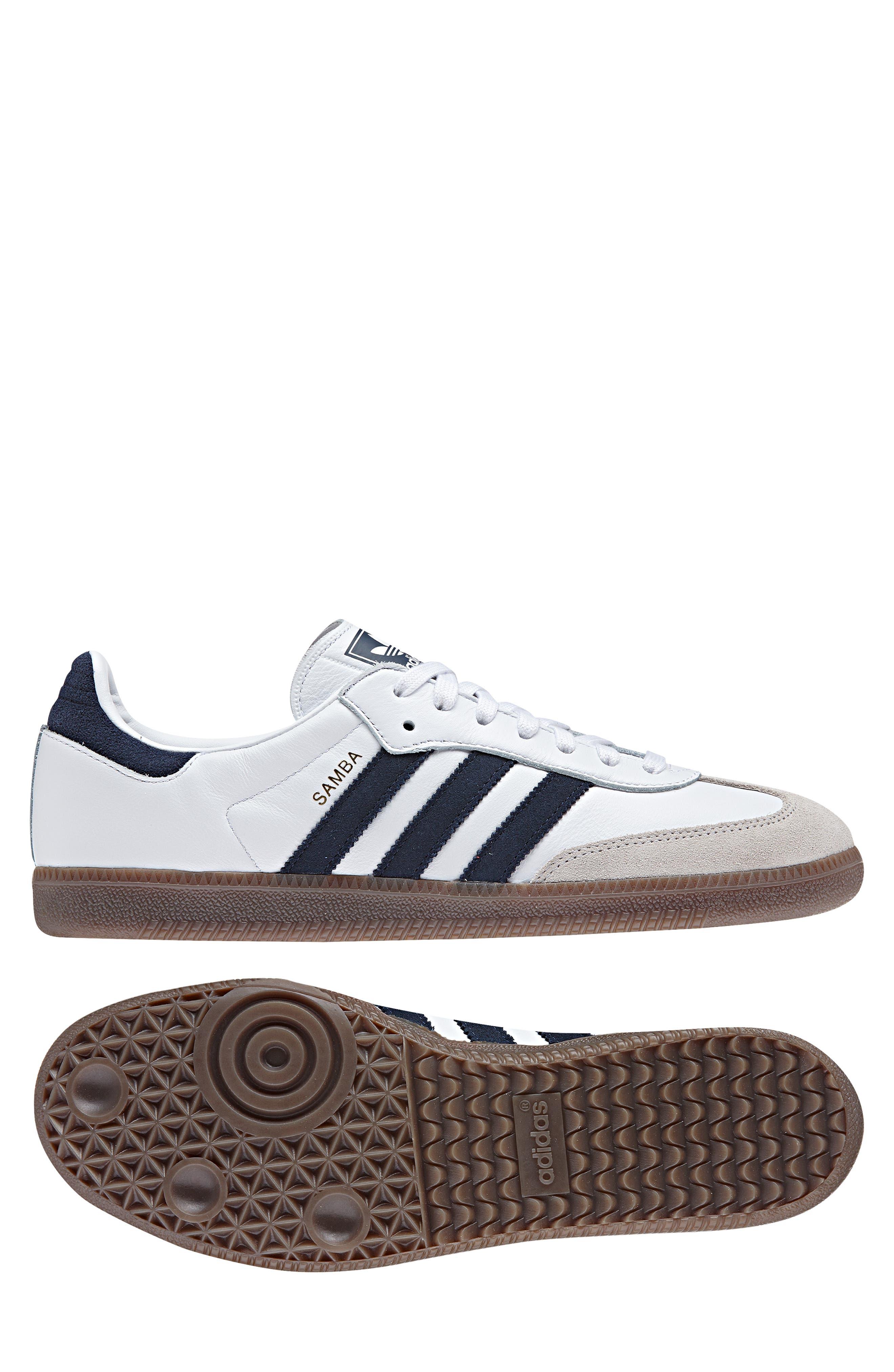Samba OG Sneaker,                             Alternate thumbnail 7, color,                             WHITE/ NAVY / CRYSTAL WHITE