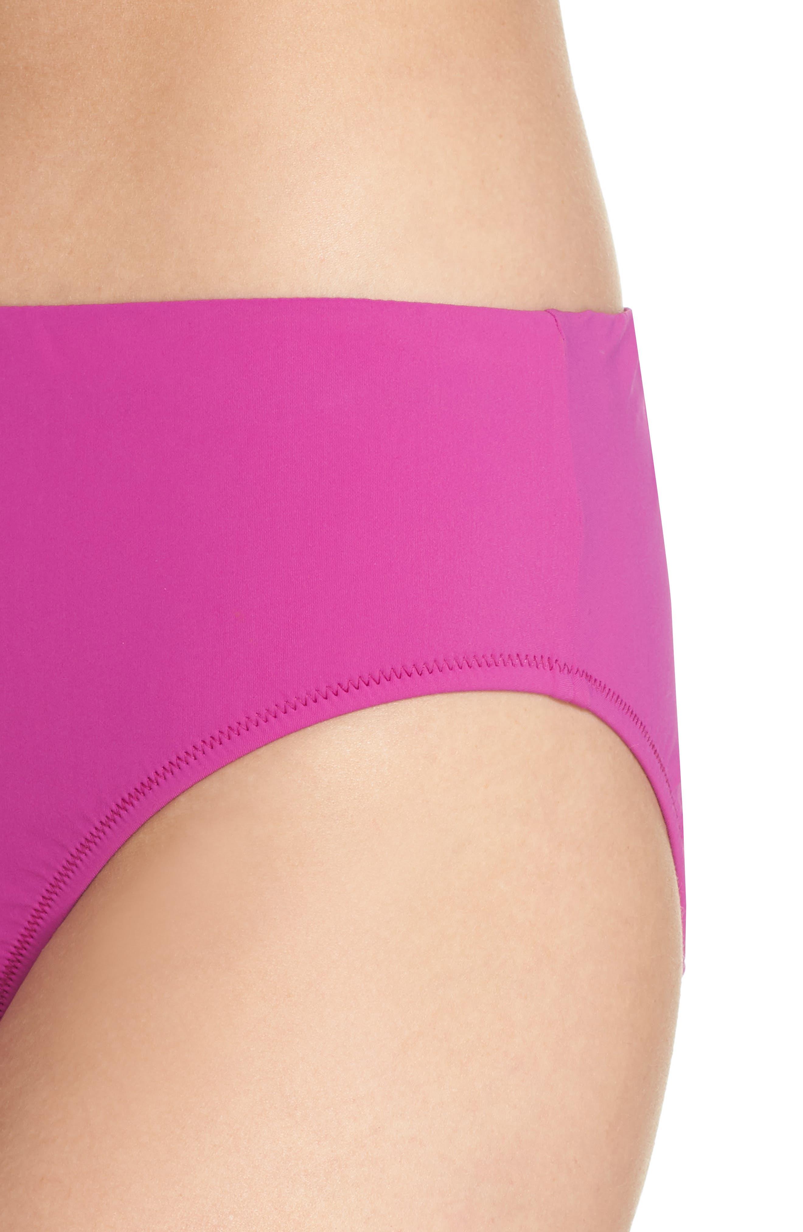 Bikini Bottoms,                             Alternate thumbnail 4, color,                             WARM VIOLA