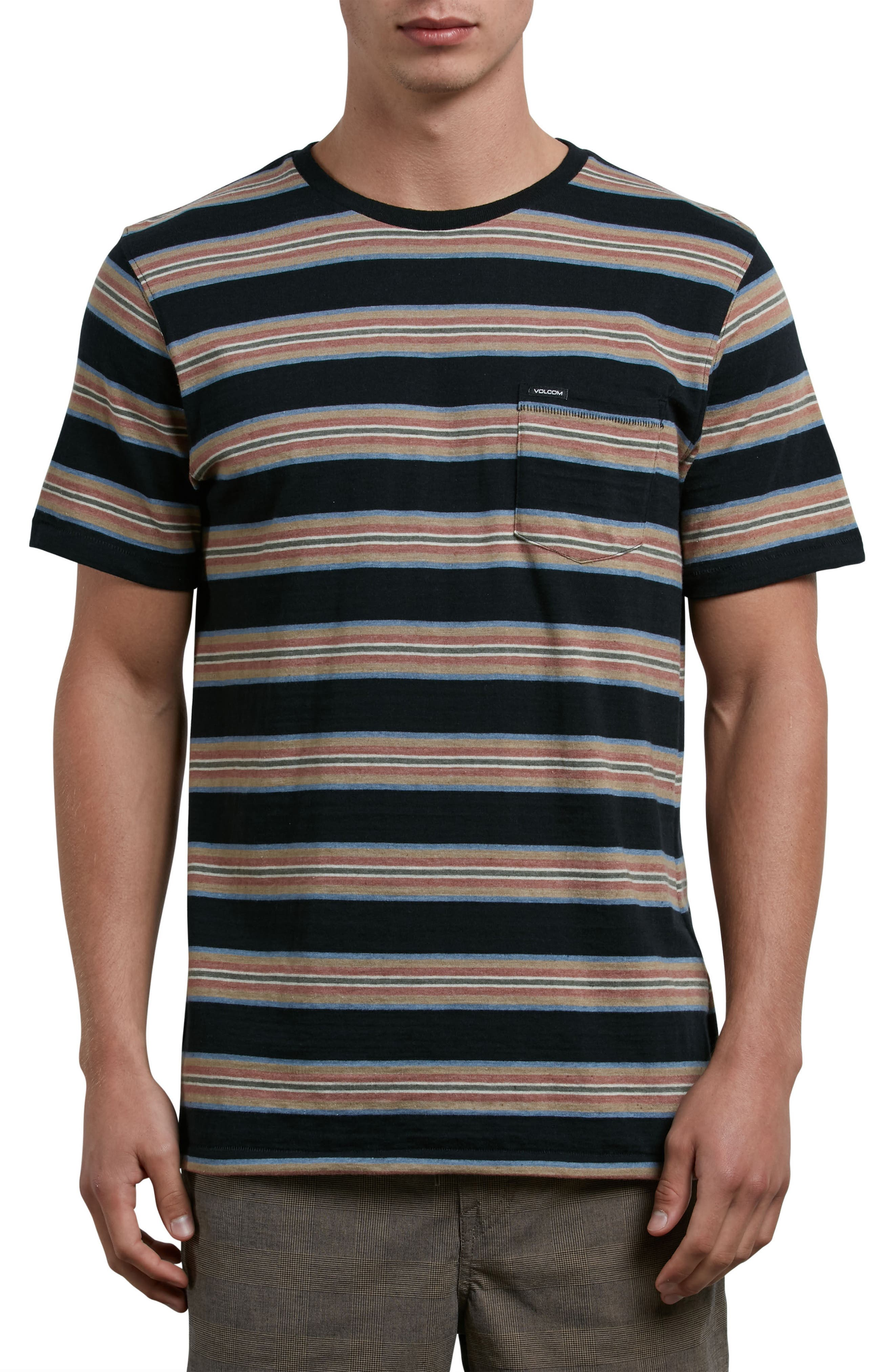 Belfast Stripe Pocket T-Shirt,                         Main,                         color, 001