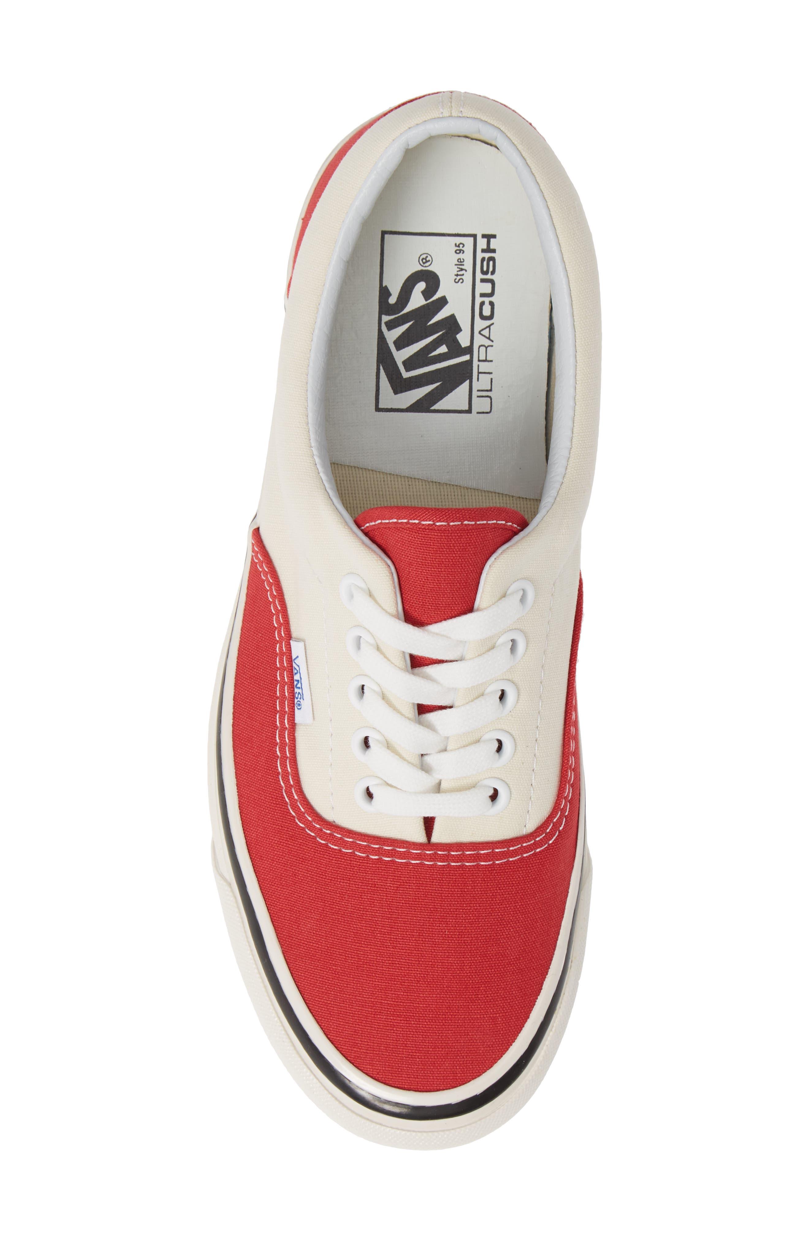 Anaheim Factory Era 95 DX Sneaker,                             Alternate thumbnail 5, color,                             OG RED/ OG WHITE CANVAS