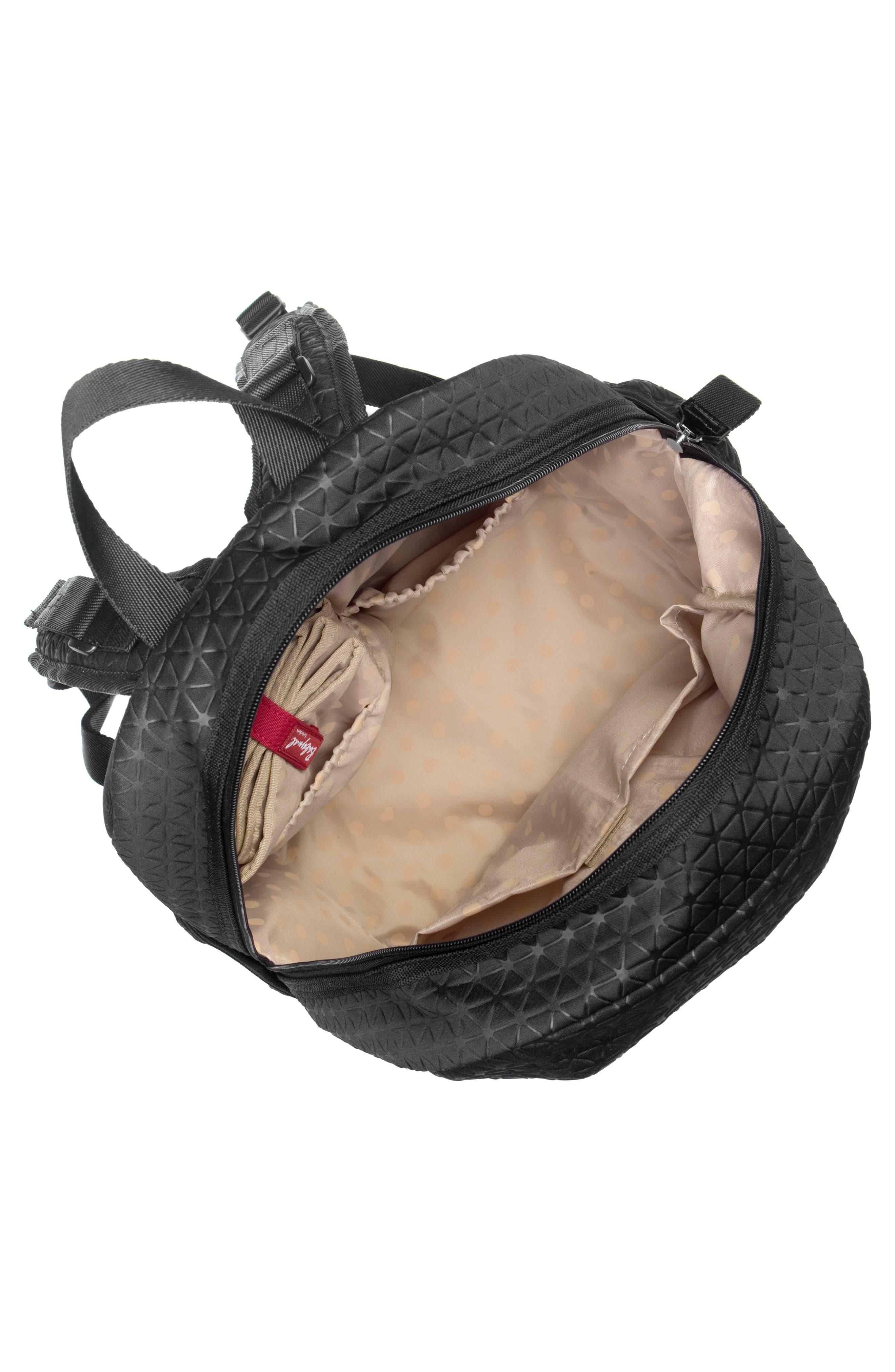 Luna Ultra Lite Diaper Backpack,                             Alternate thumbnail 3, color,                             BLACK