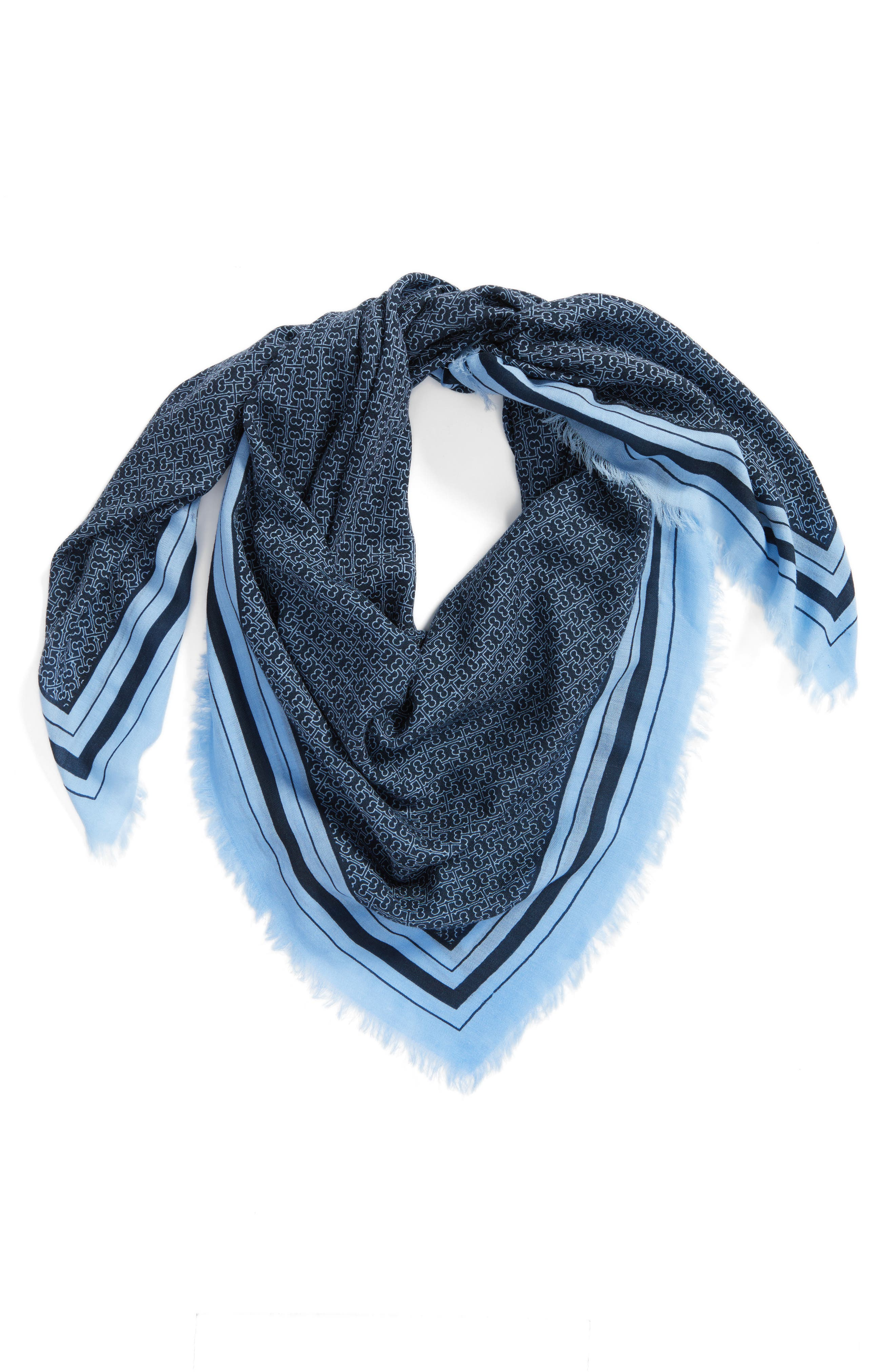 T Core Square Wool Scarf,                             Alternate thumbnail 2, color,                             405
