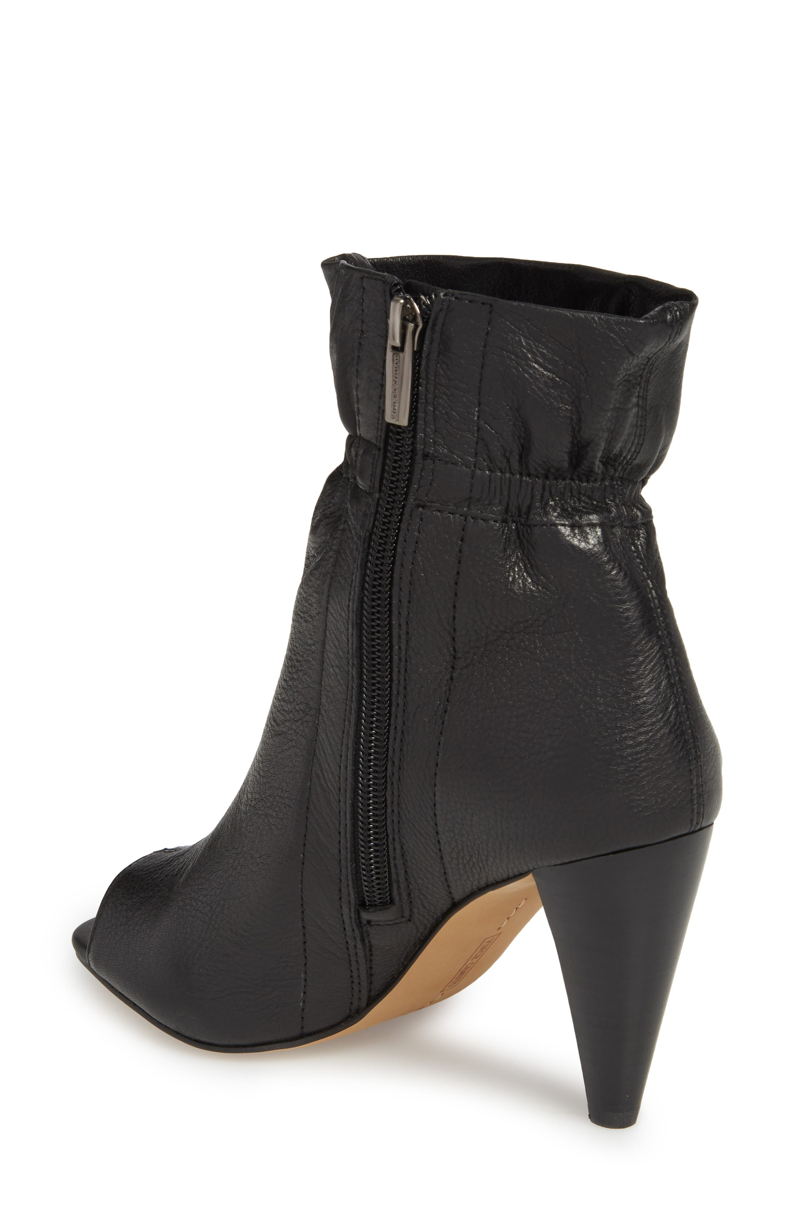 Addiena Bootie,                             Alternate thumbnail 2, color,                             BLACK LEATHER