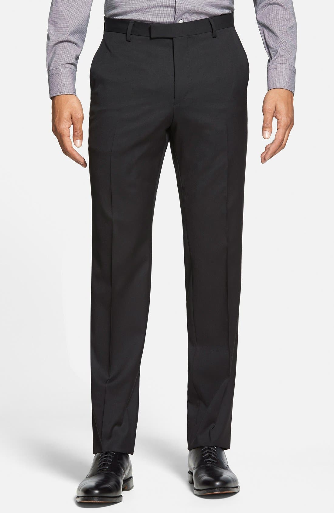 Johnstons/Lenon Classic Fit Wool Suit,                             Alternate thumbnail 7, color,                             001