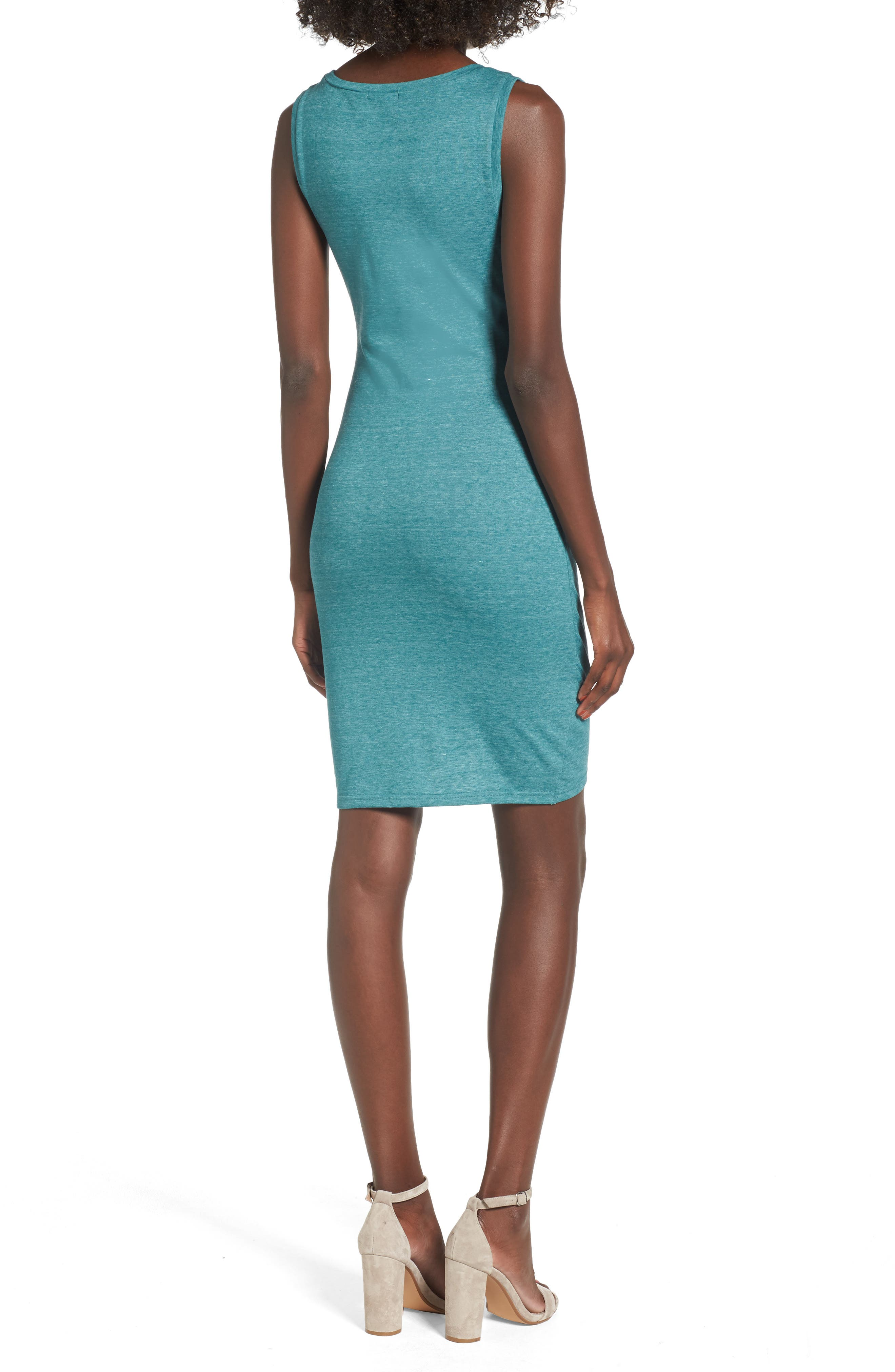 Ruched Body-Con Tank Dress,                             Alternate thumbnail 38, color,