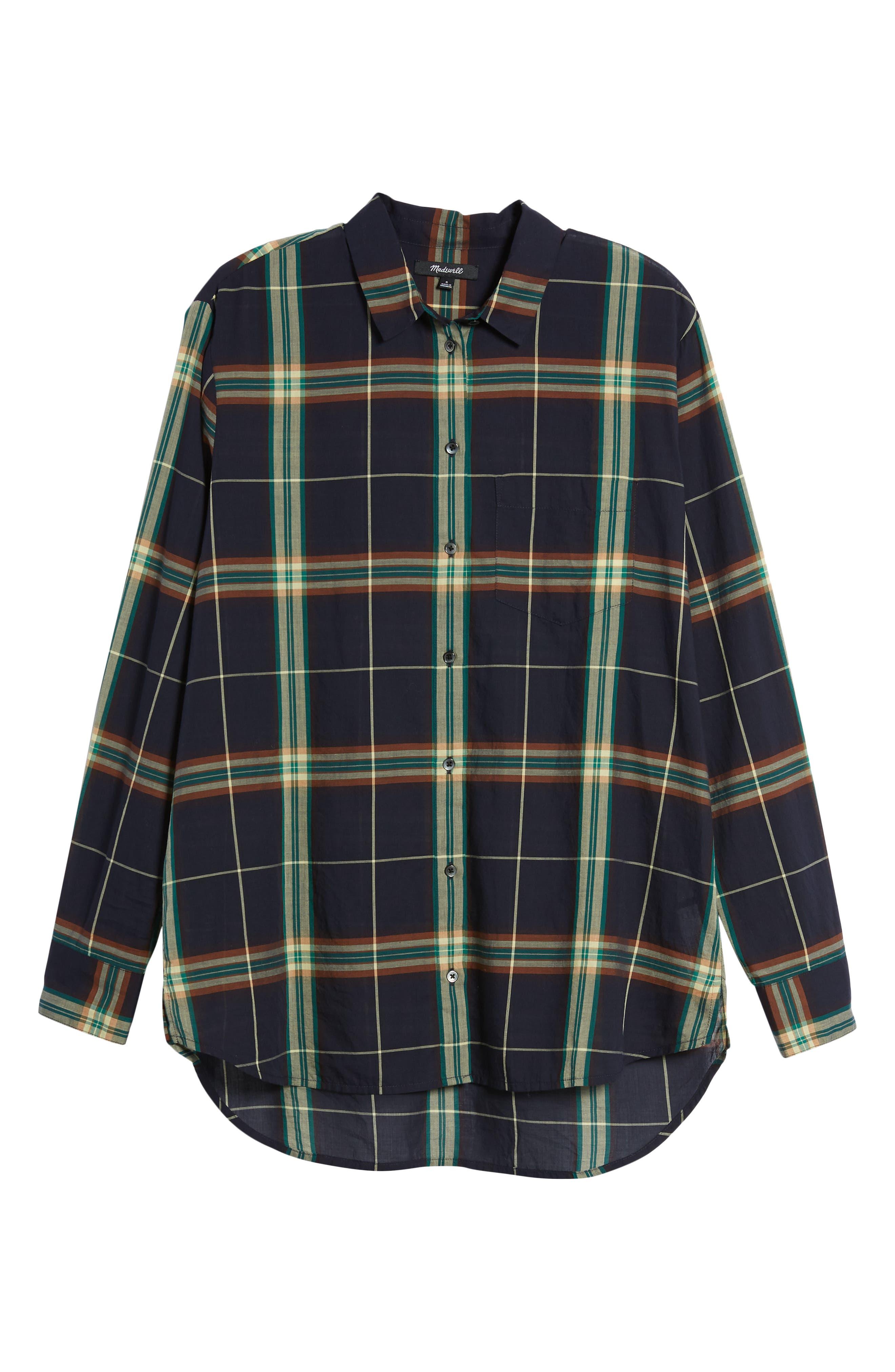 Oversize Ex-Boyfriend Plaid Shirt,                             Alternate thumbnail 7, color,                             300