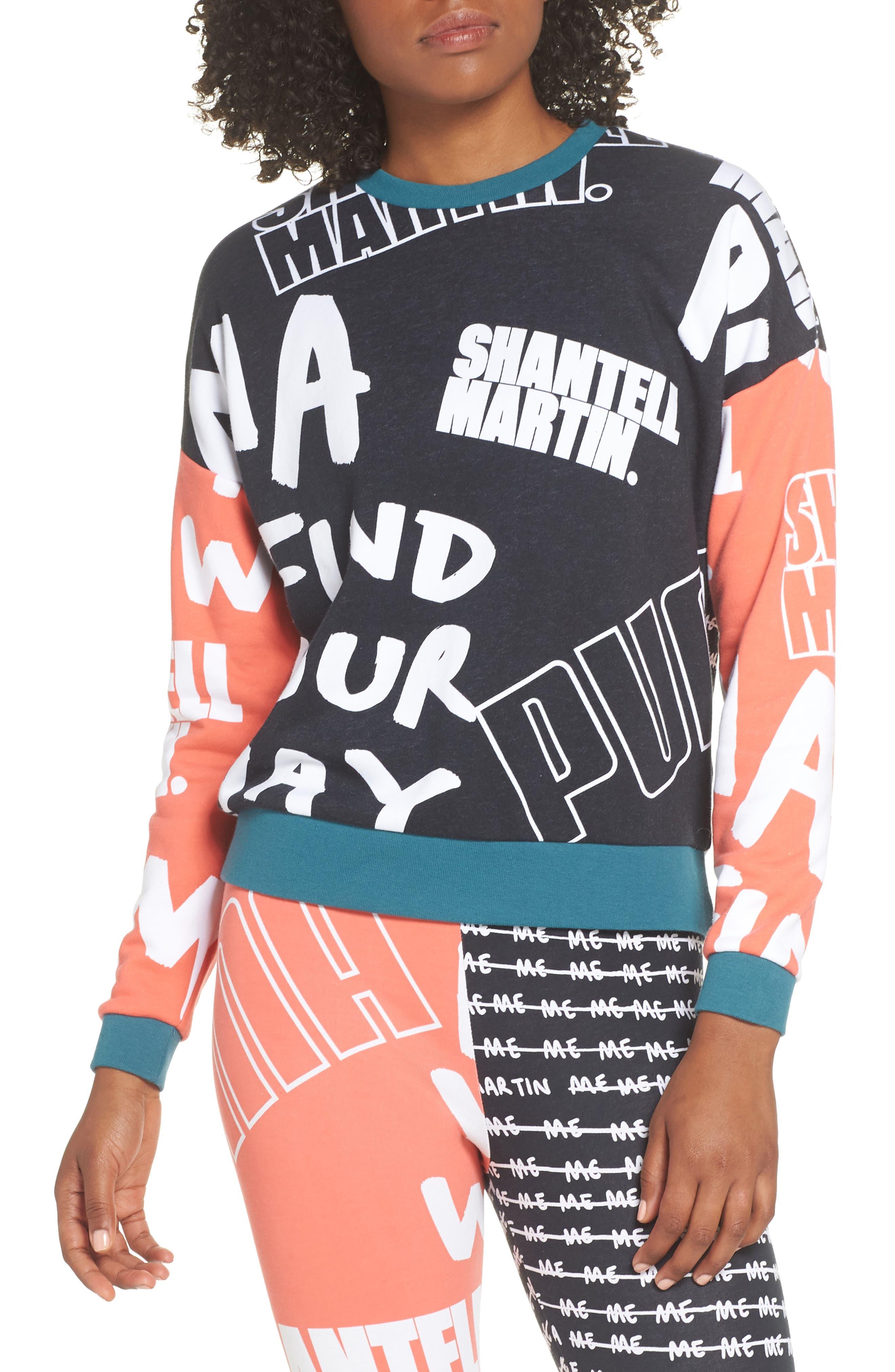 X Shantell Martin Sweatshirt,                             Main thumbnail 1, color,                             PUMA BLACK