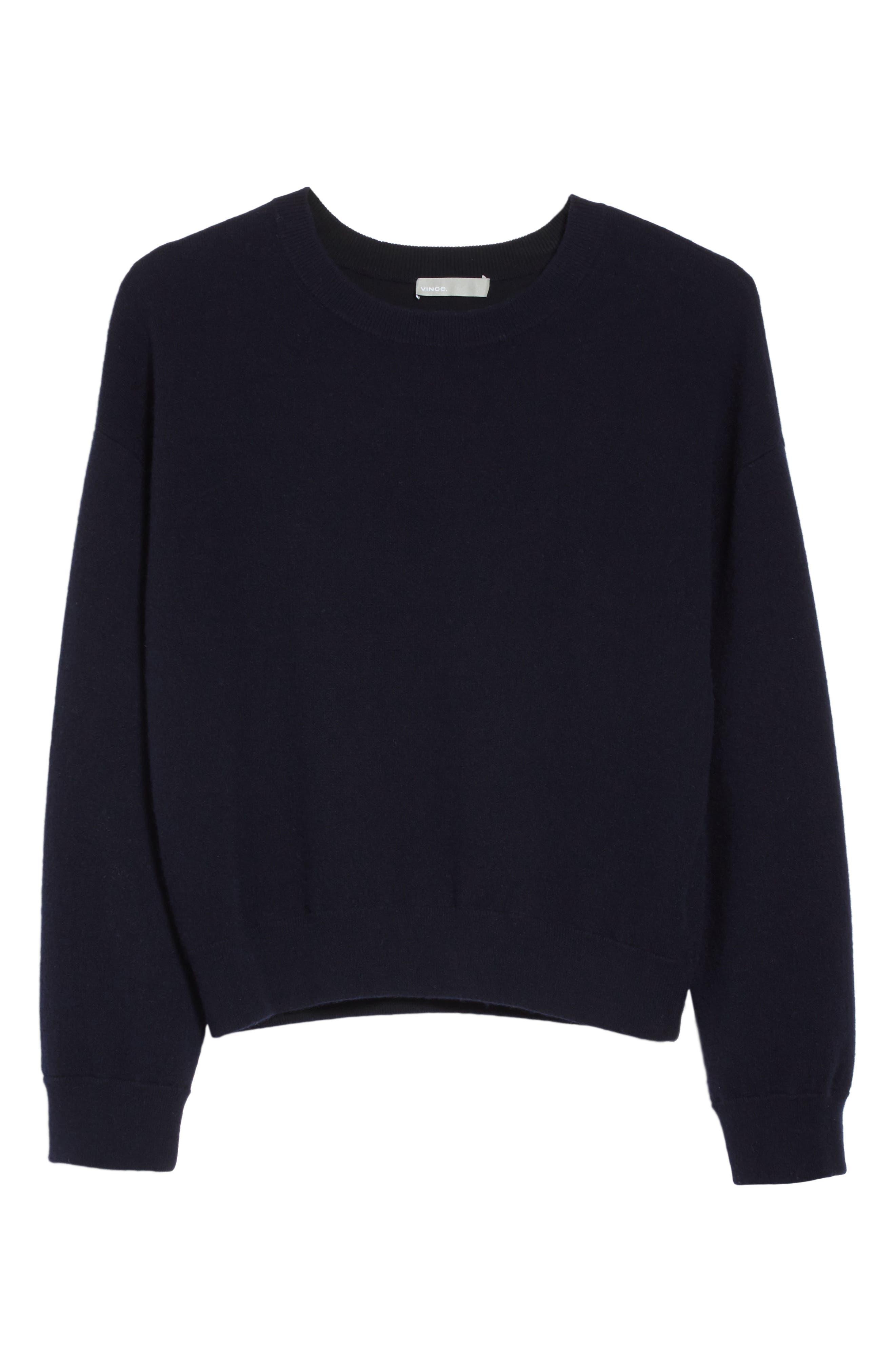 Double Layer Cashmere & Cotton Sweater,                             Alternate thumbnail 12, color,