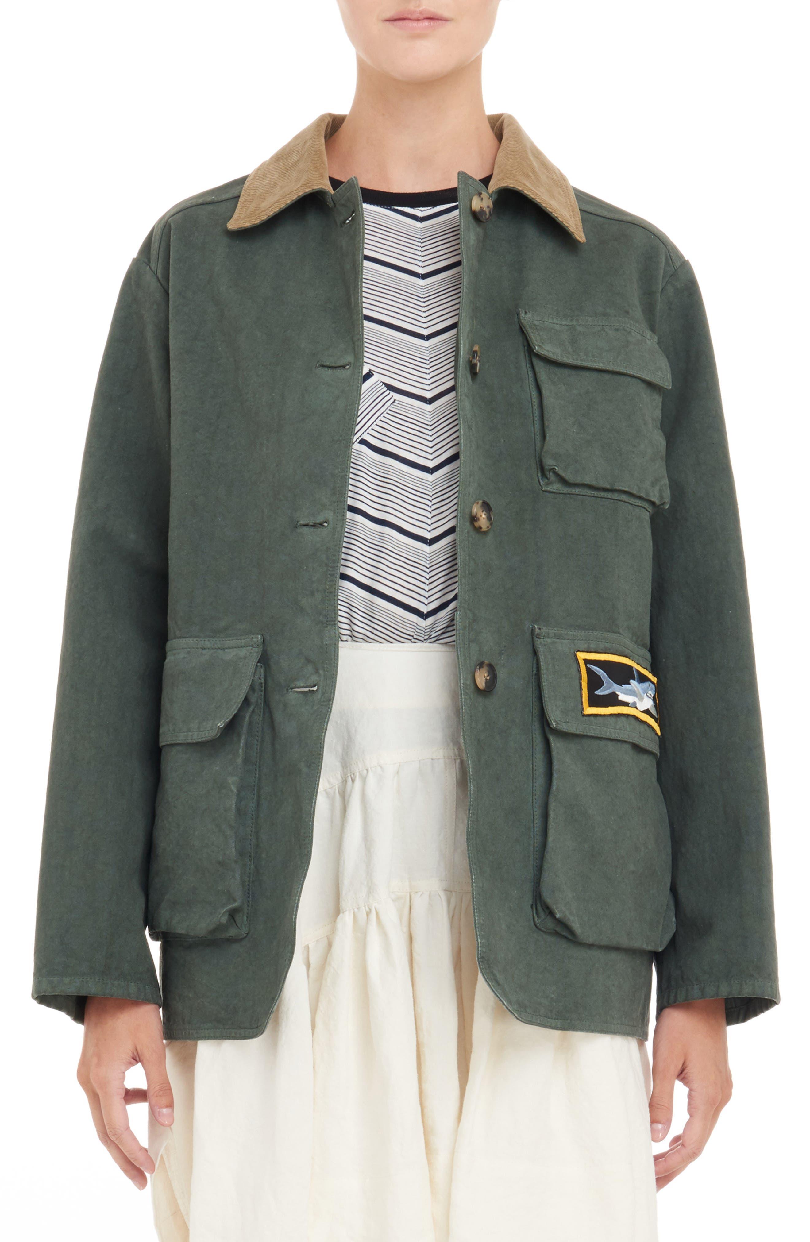 JW ANDERSON J.W.ANDERSON Canvas Jacket, Main, color, 300