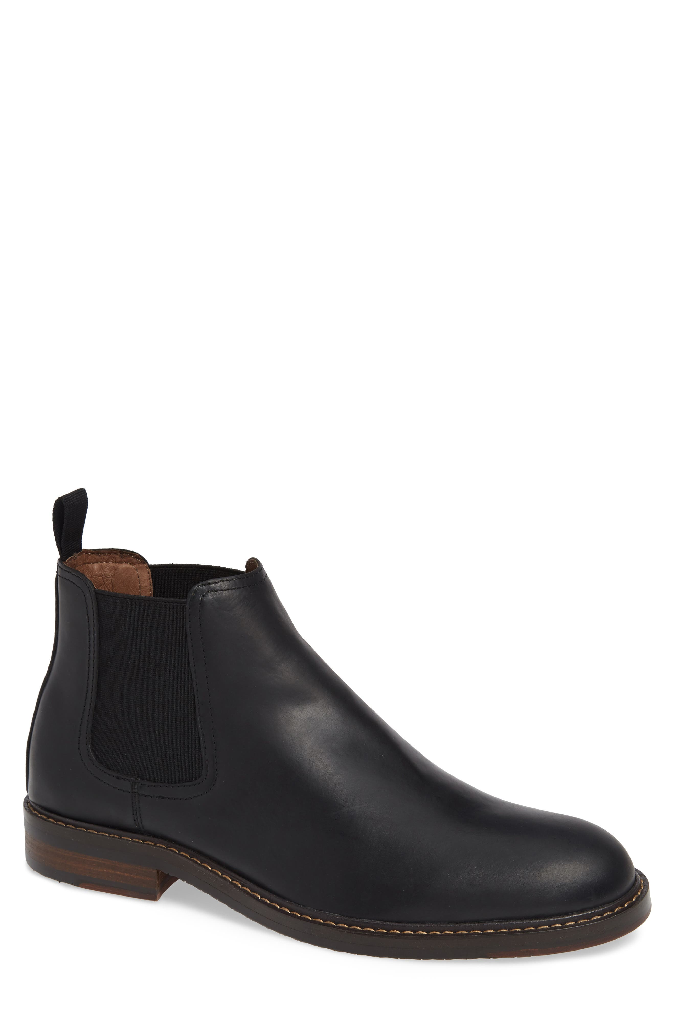 Brooks Chelsea Boot,                         Main,                         color, BLACK LEATHER
