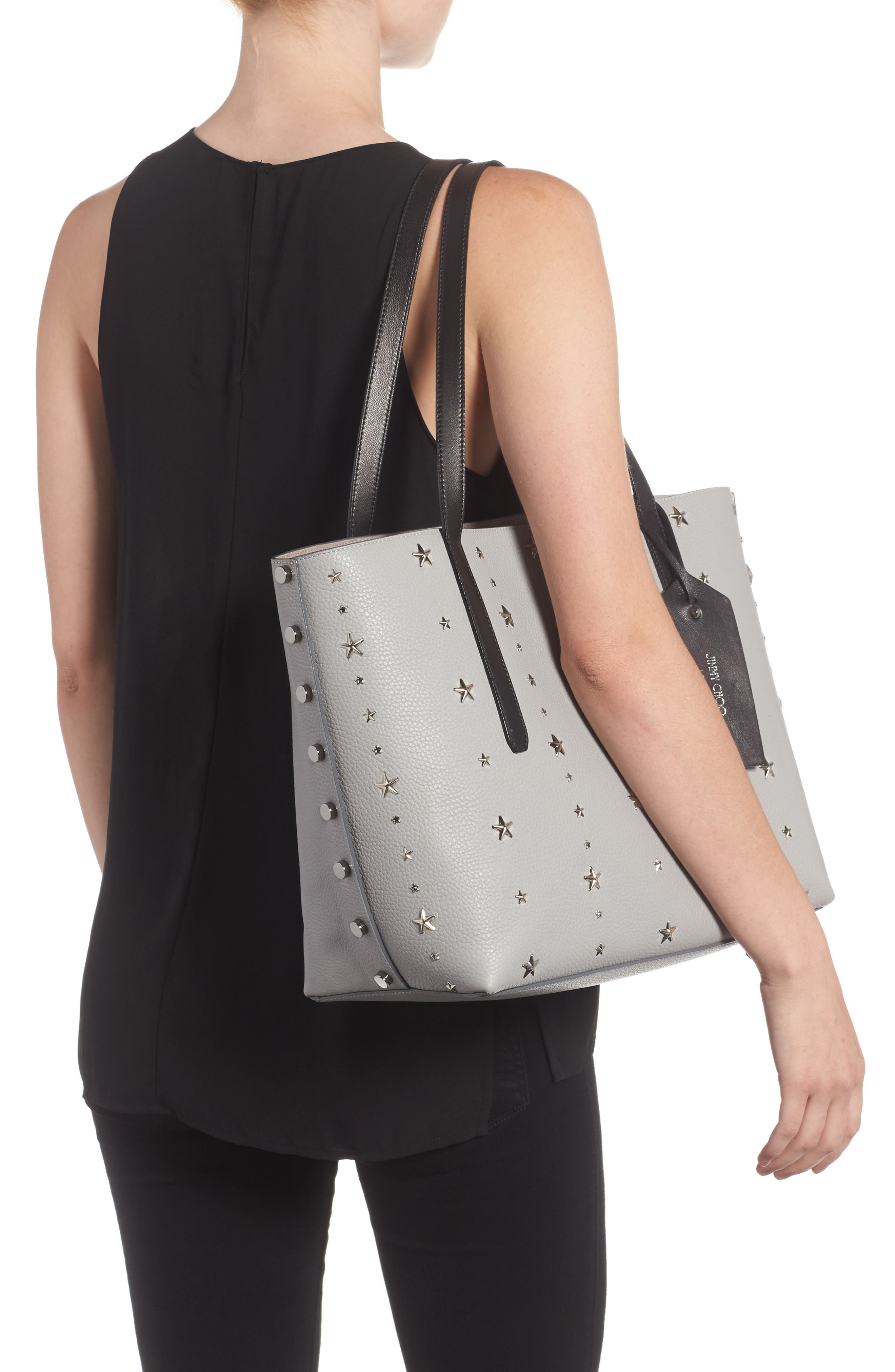 Twist East West Leather Tote,                             Alternate thumbnail 2, color,                             040