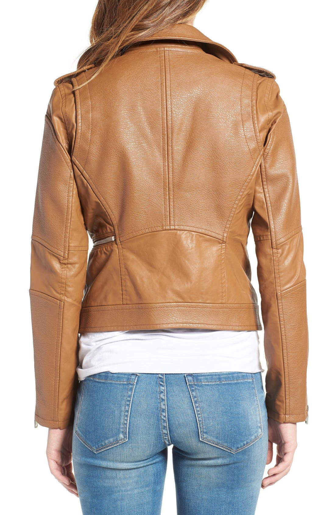 'Easy Rider' Faux Leather Moto Jacket,                             Alternate thumbnail 10, color,