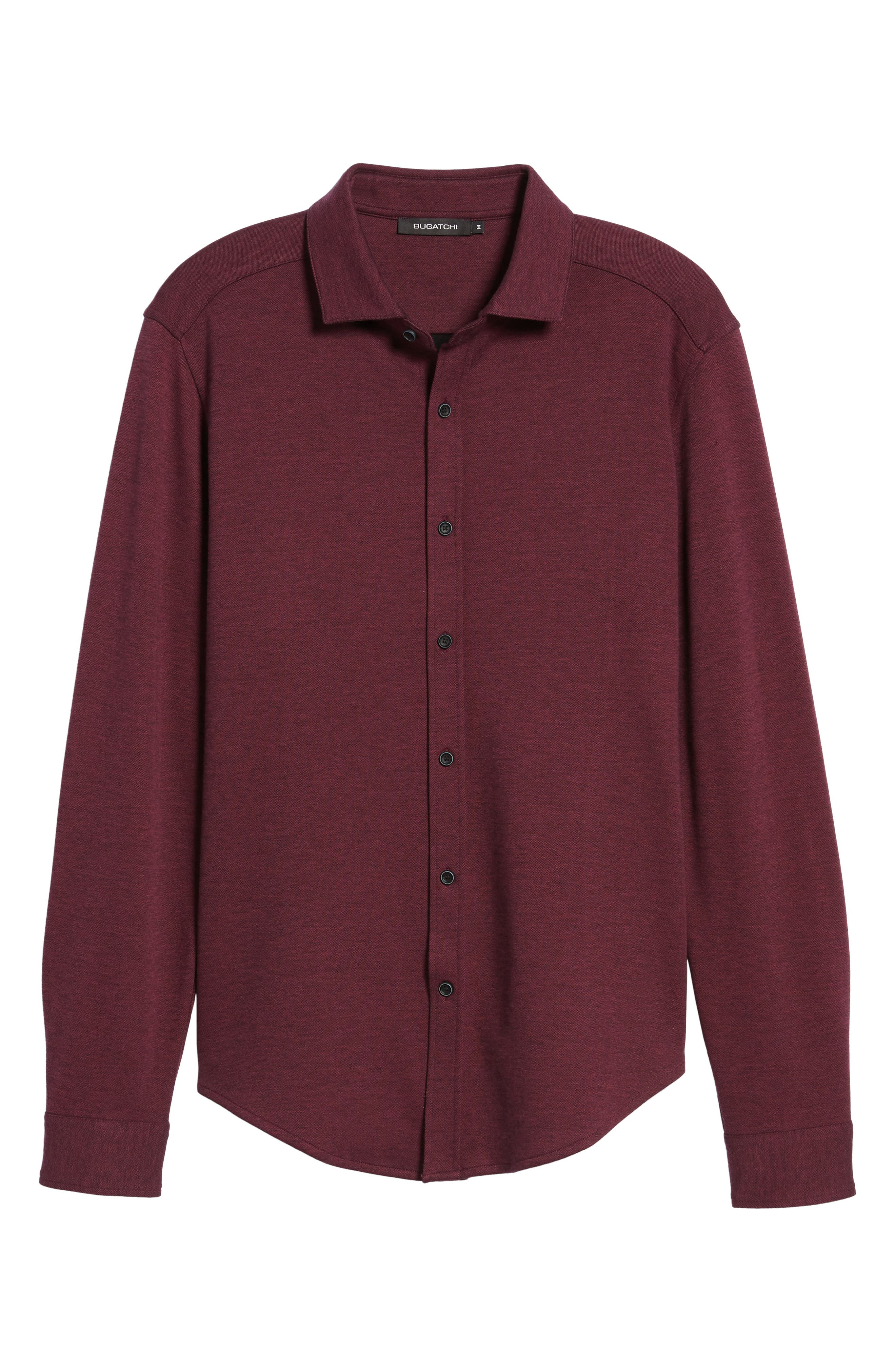 Classic Fit Heathered Knit Sport Shirt,                             Alternate thumbnail 18, color,