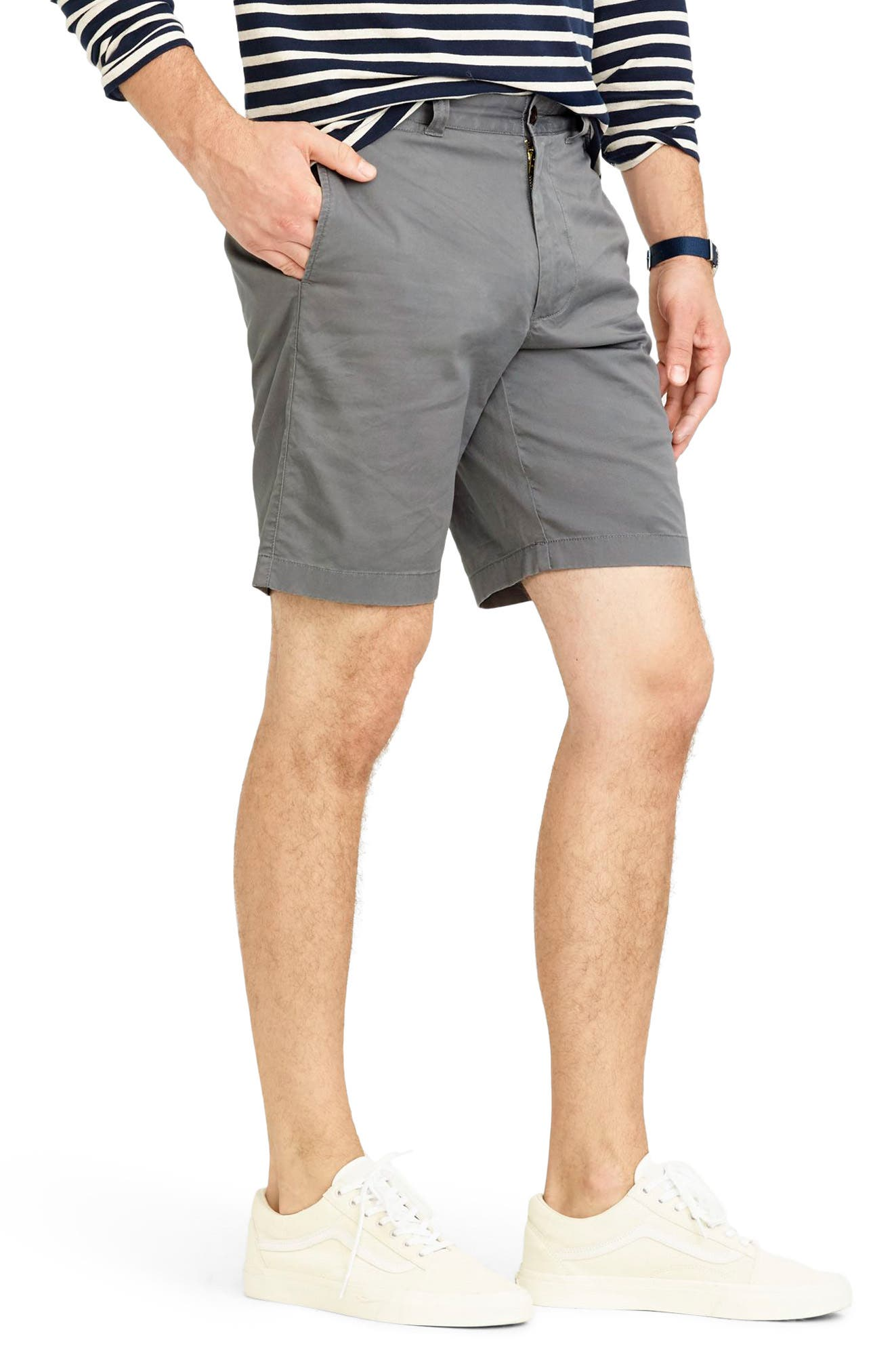 Stretch Chino Shorts,                             Alternate thumbnail 3, color,                             020