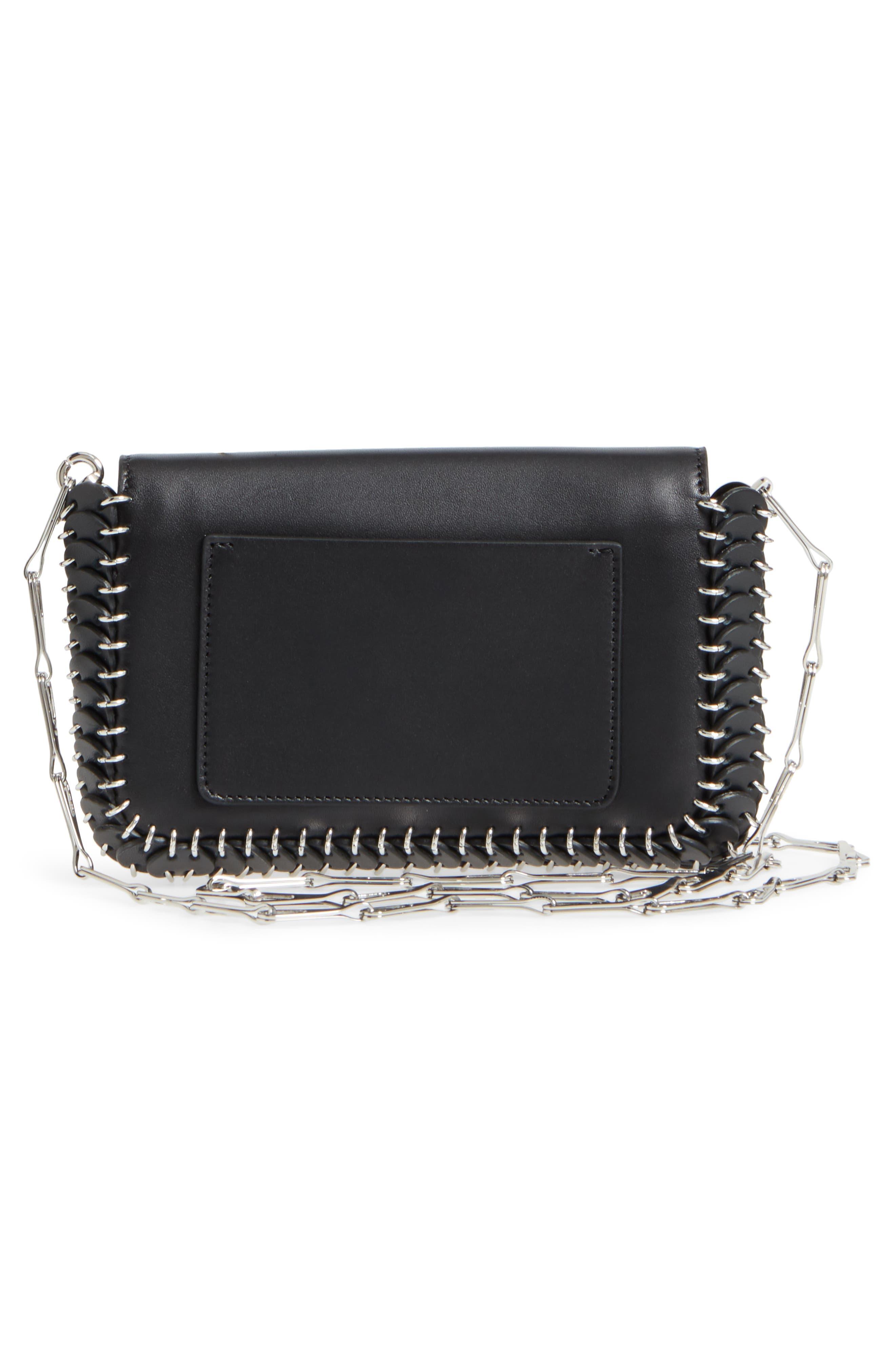 Mini Calfskin Shoulder Bag,                             Alternate thumbnail 4, color,                             BLACK