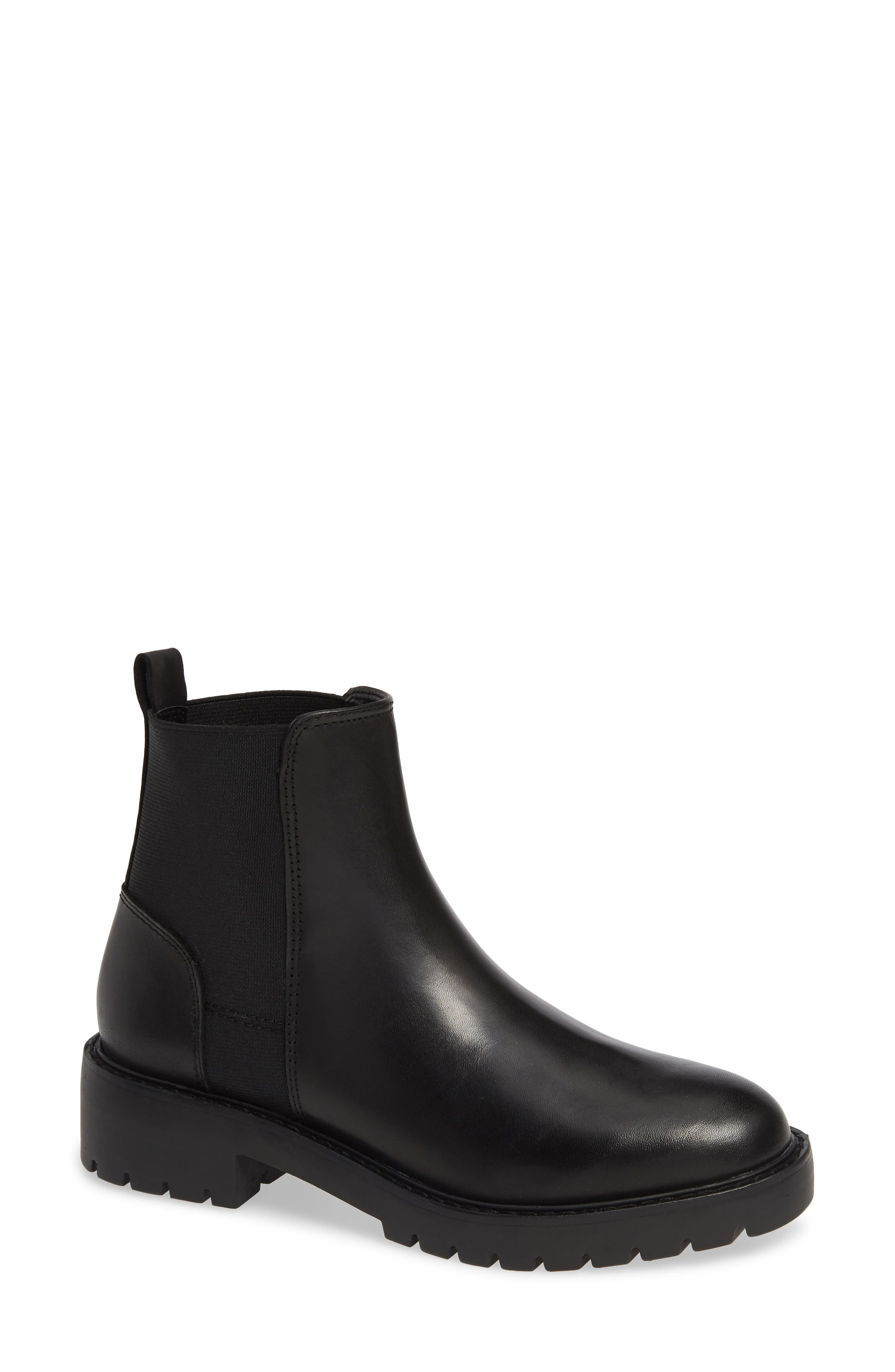 Gliding Boot,                         Main,                         color, BLACK LEATHER