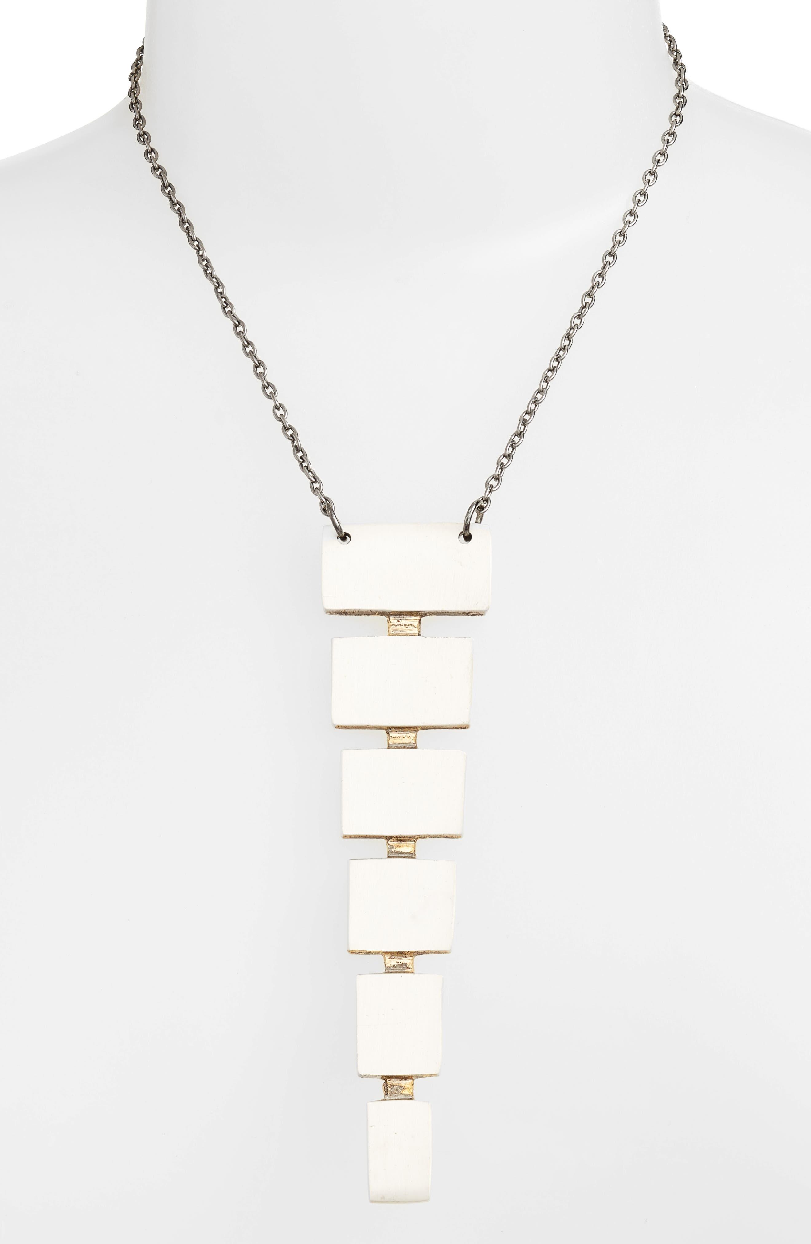 Block Pendant Necklace,                             Alternate thumbnail 3, color,