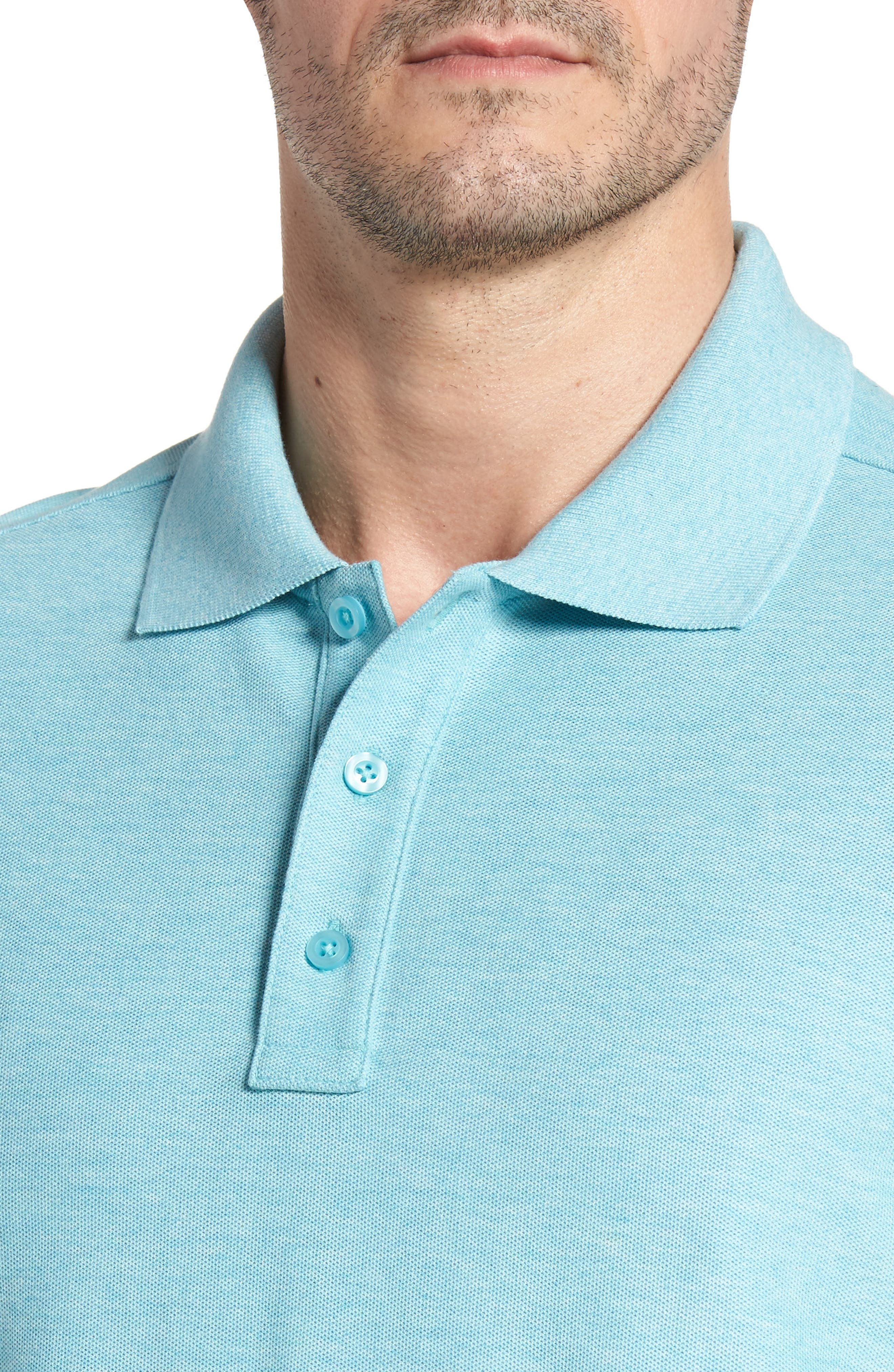 Classic Regular Fit Piqué Polo,                             Alternate thumbnail 4, color,                             441