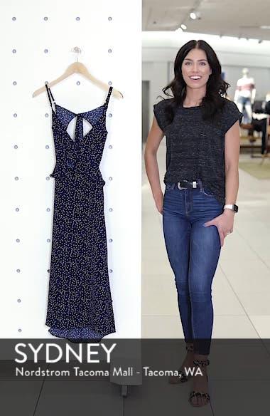 Ruffle Tie Back Midi Dress, sales video thumbnail
