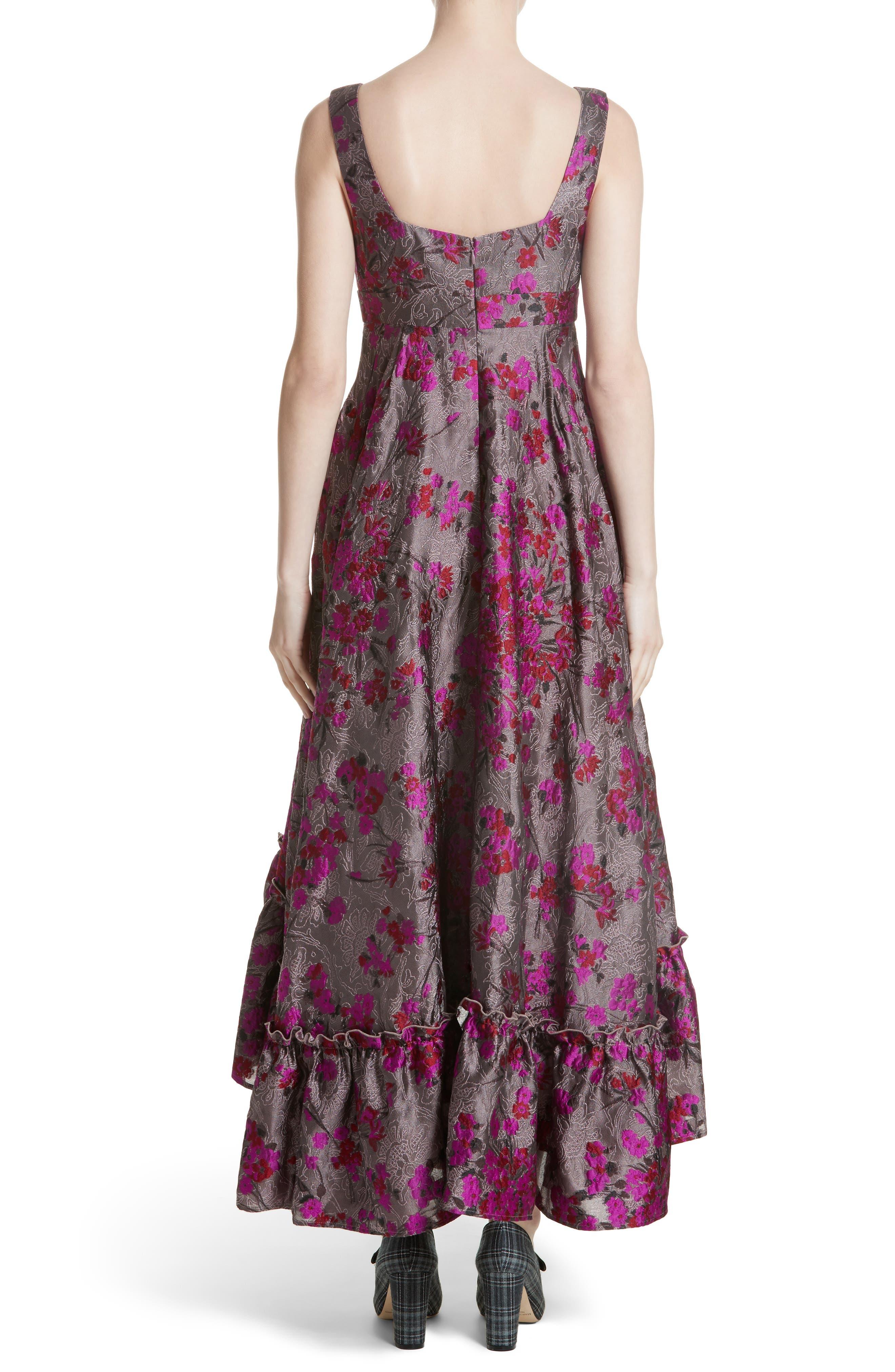 Metallic Jacquard Midi Dress,                             Alternate thumbnail 2, color,                             651